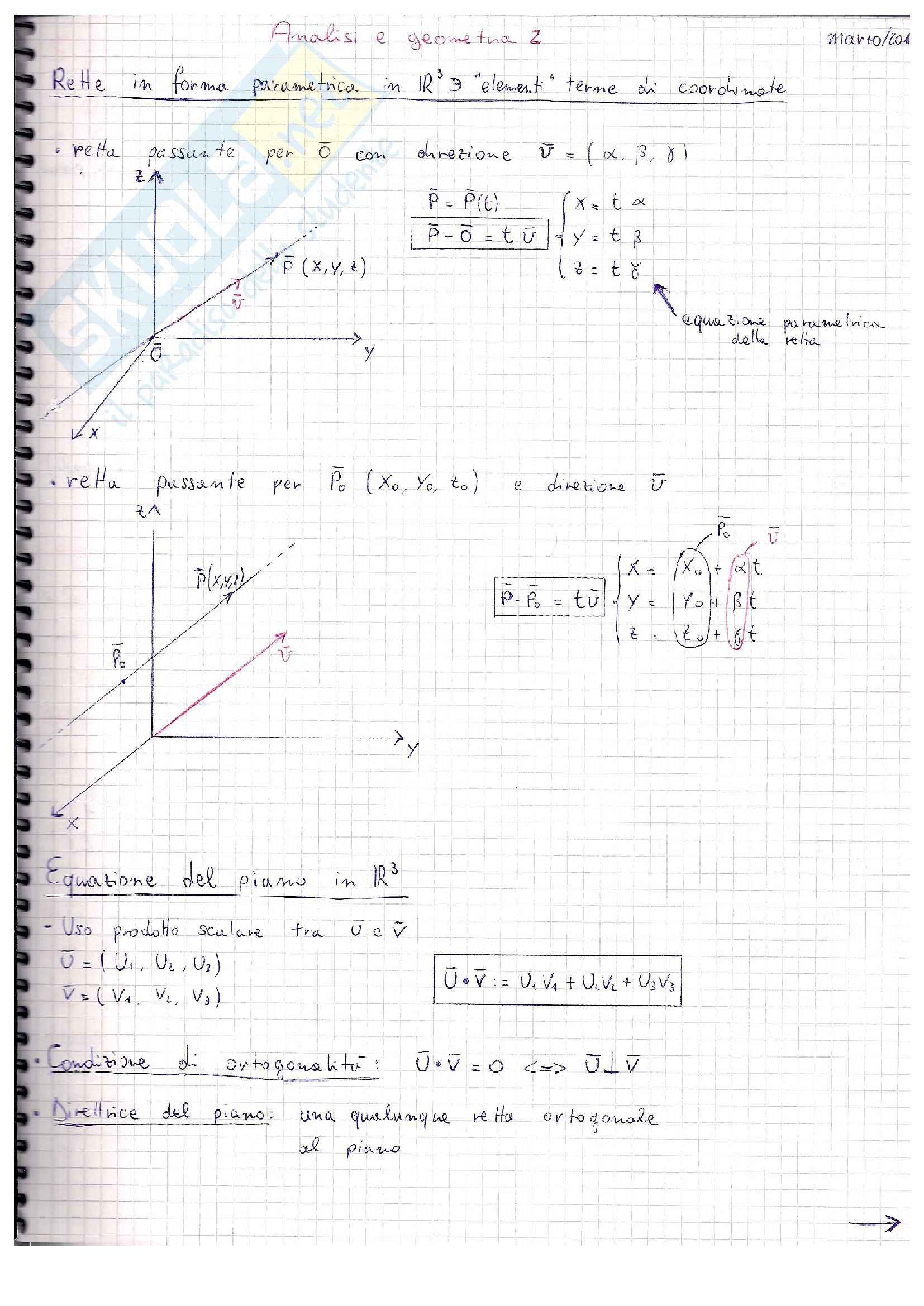 appunto F. Vegni Analisi e geometria 2