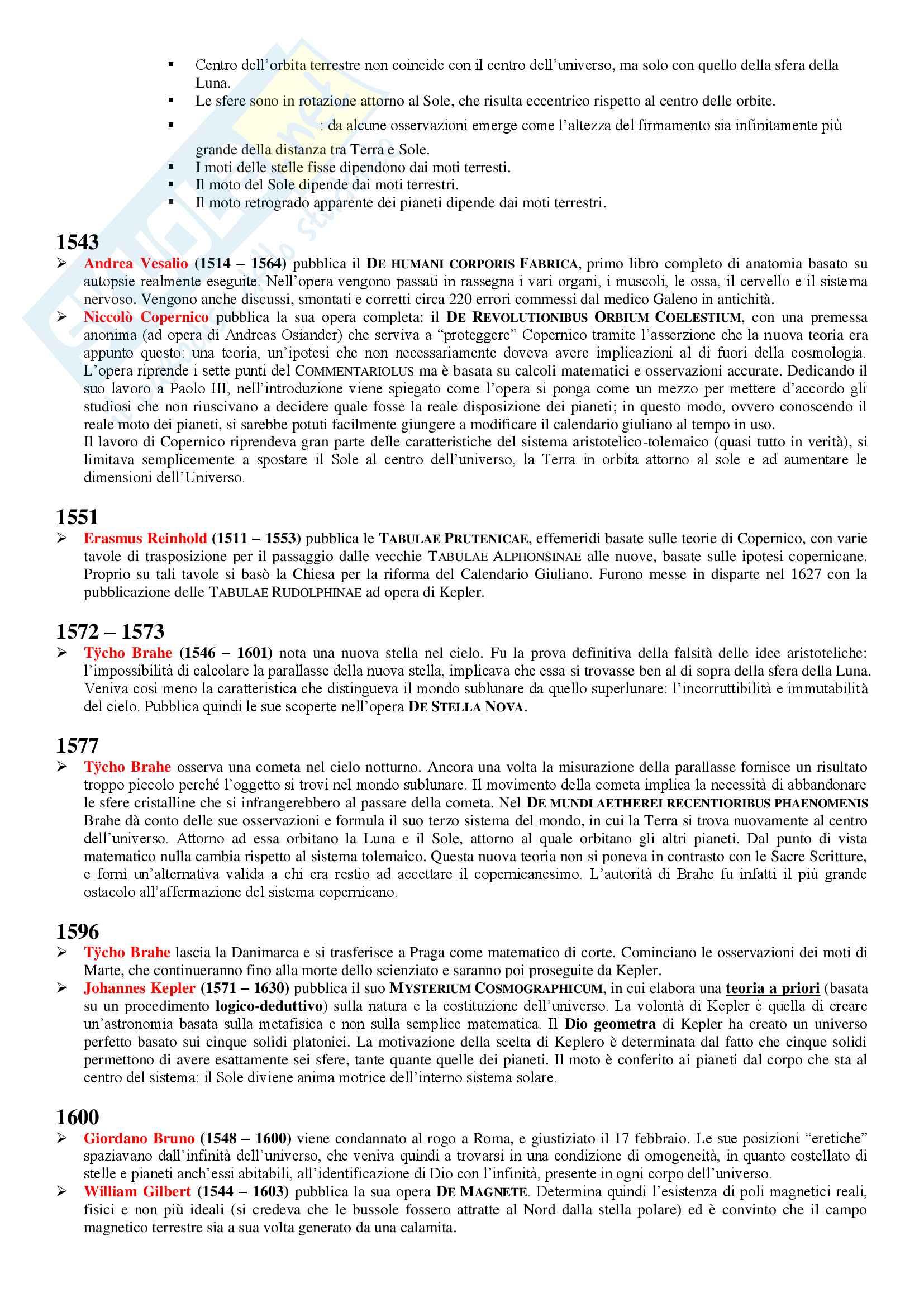 Schema Storia della Scienza Pag. 2