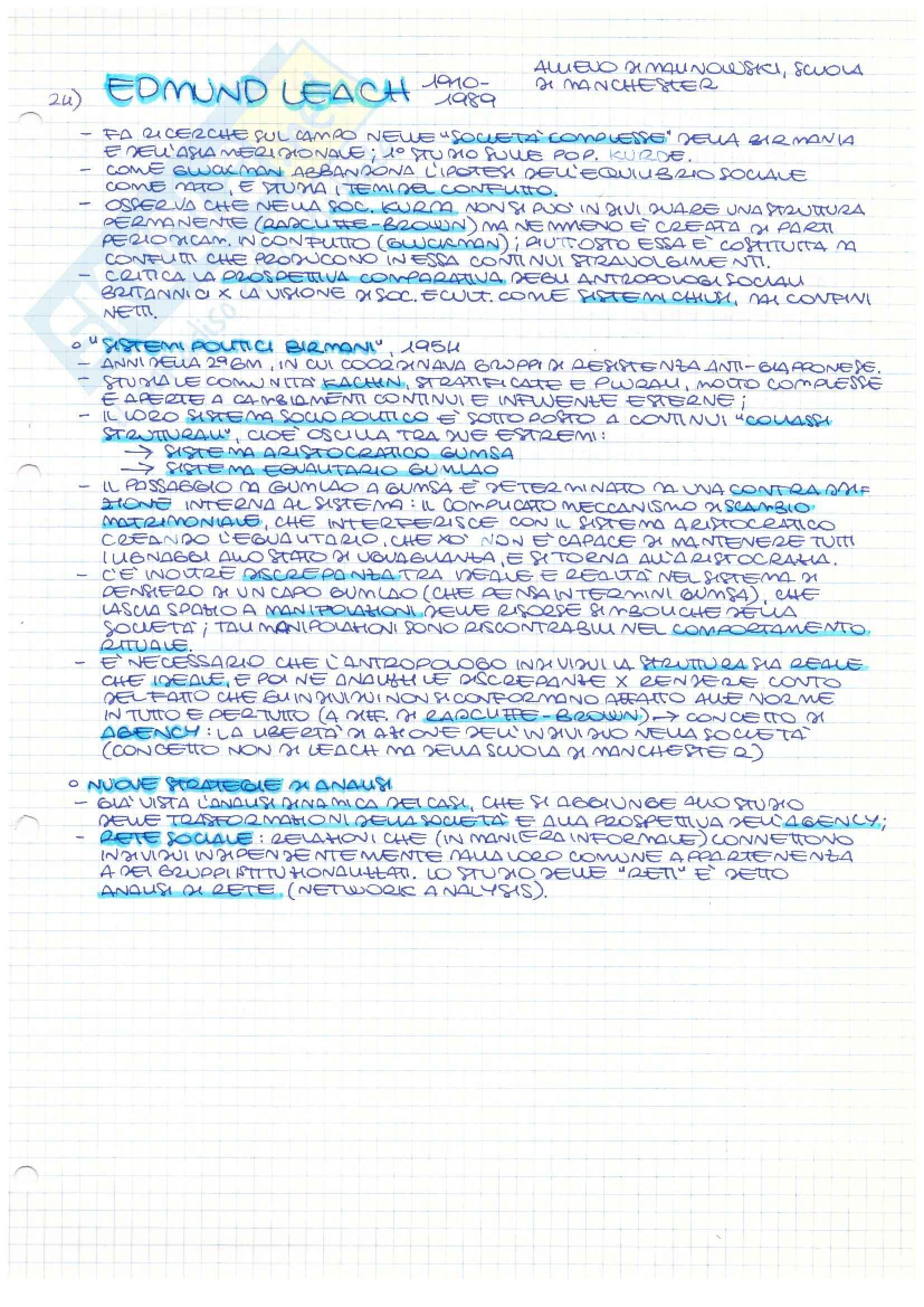 Riassunto esame Antropologia culturale, prof. Jourdan, libro consigliato Storia dell'antropologia, Fabietti Pag. 21