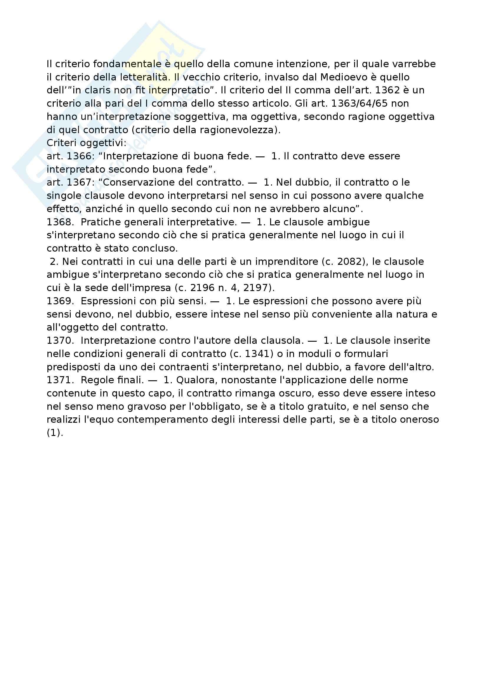 Riassunto esame Diritto Privato: il contratto e interpretazione, prof. Manfredonia Pag. 6