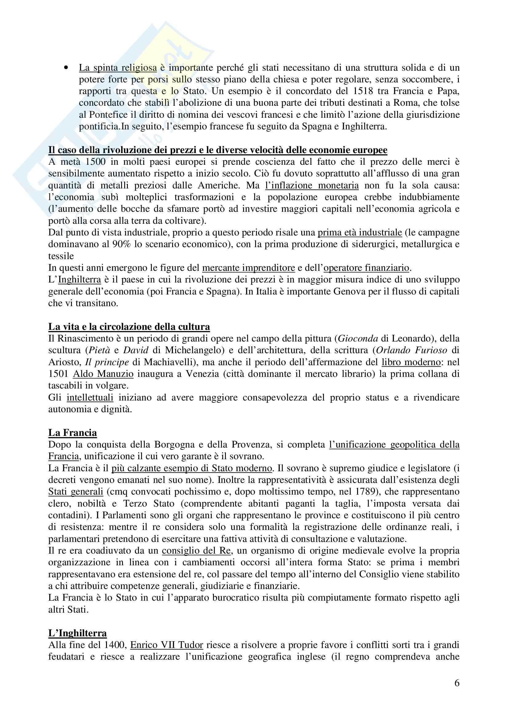 Riassunto esame Storia, prof. Cancila, libro consigliato Storia moderna, Musi Pag. 6