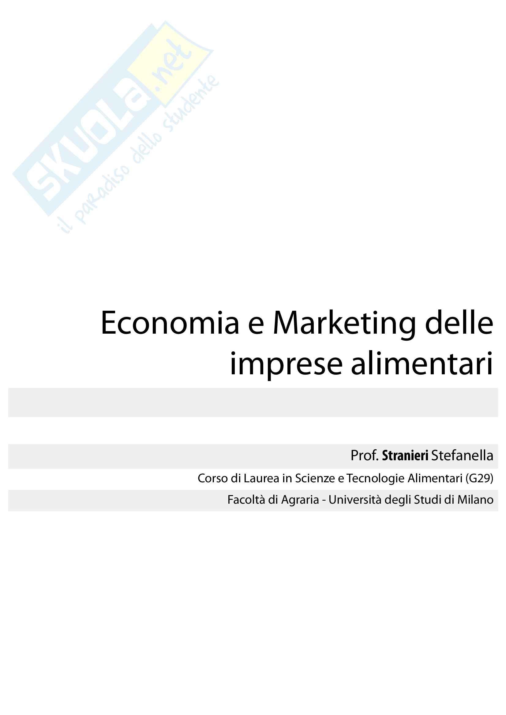 Economia e marketing delle imprese alimentari