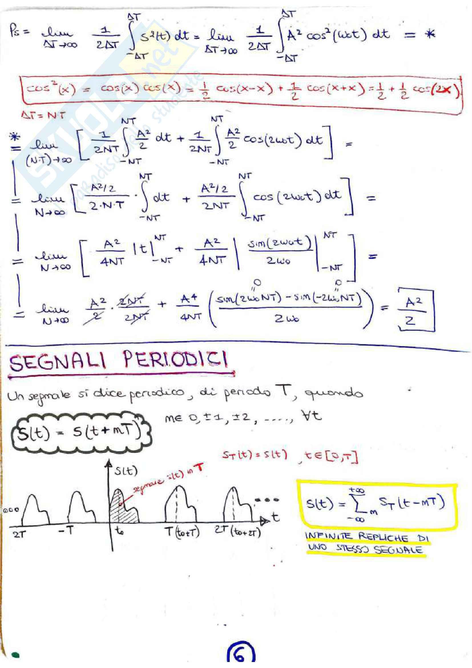 Riassunto esame Teoria dei Segnali, prof. Banelli, libro consigliato Teoria dei Segnali Luise, Vitetta Pag. 6