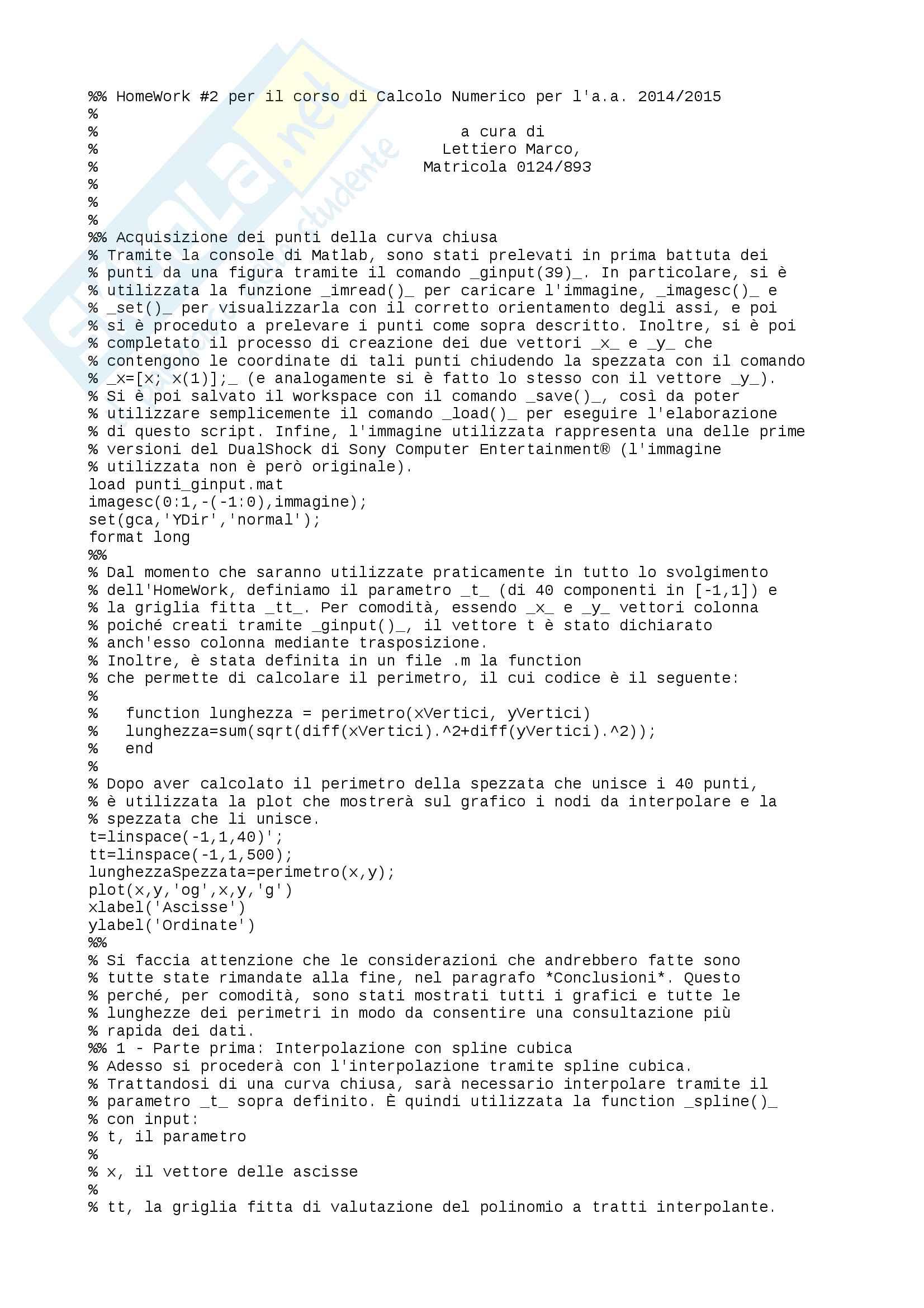 Appunti Calcolo Numerico via HW2