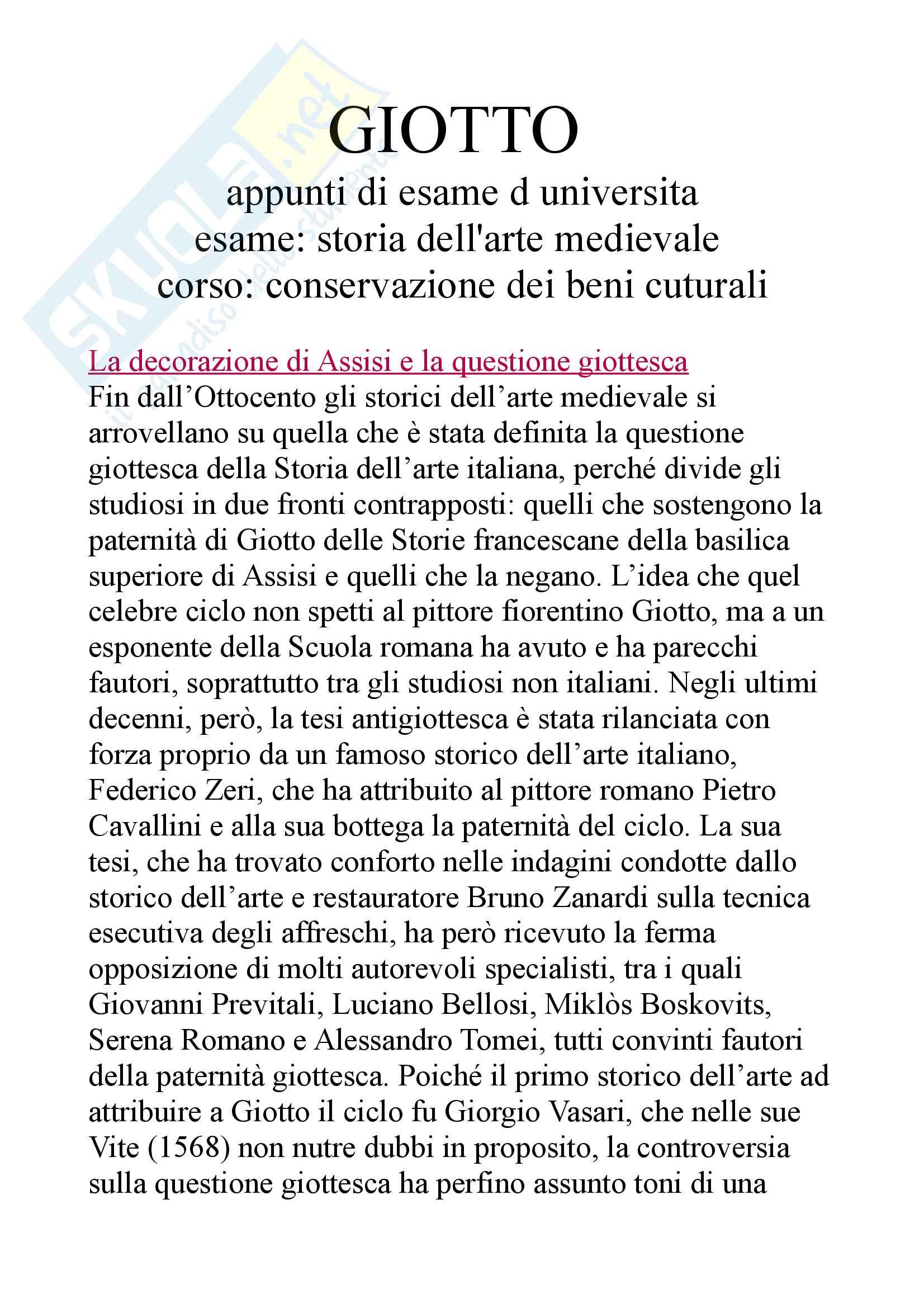 Tutto su Giotto