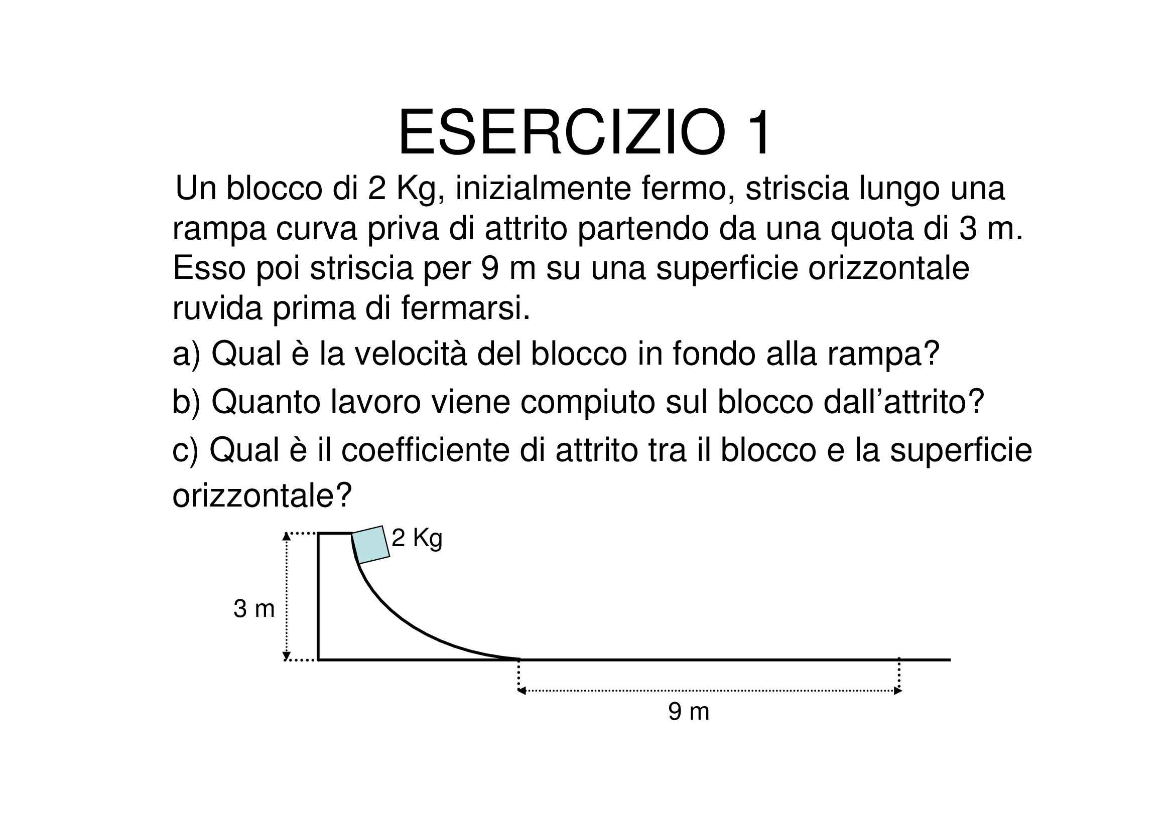Fisica - energia cinetica Pag. 1