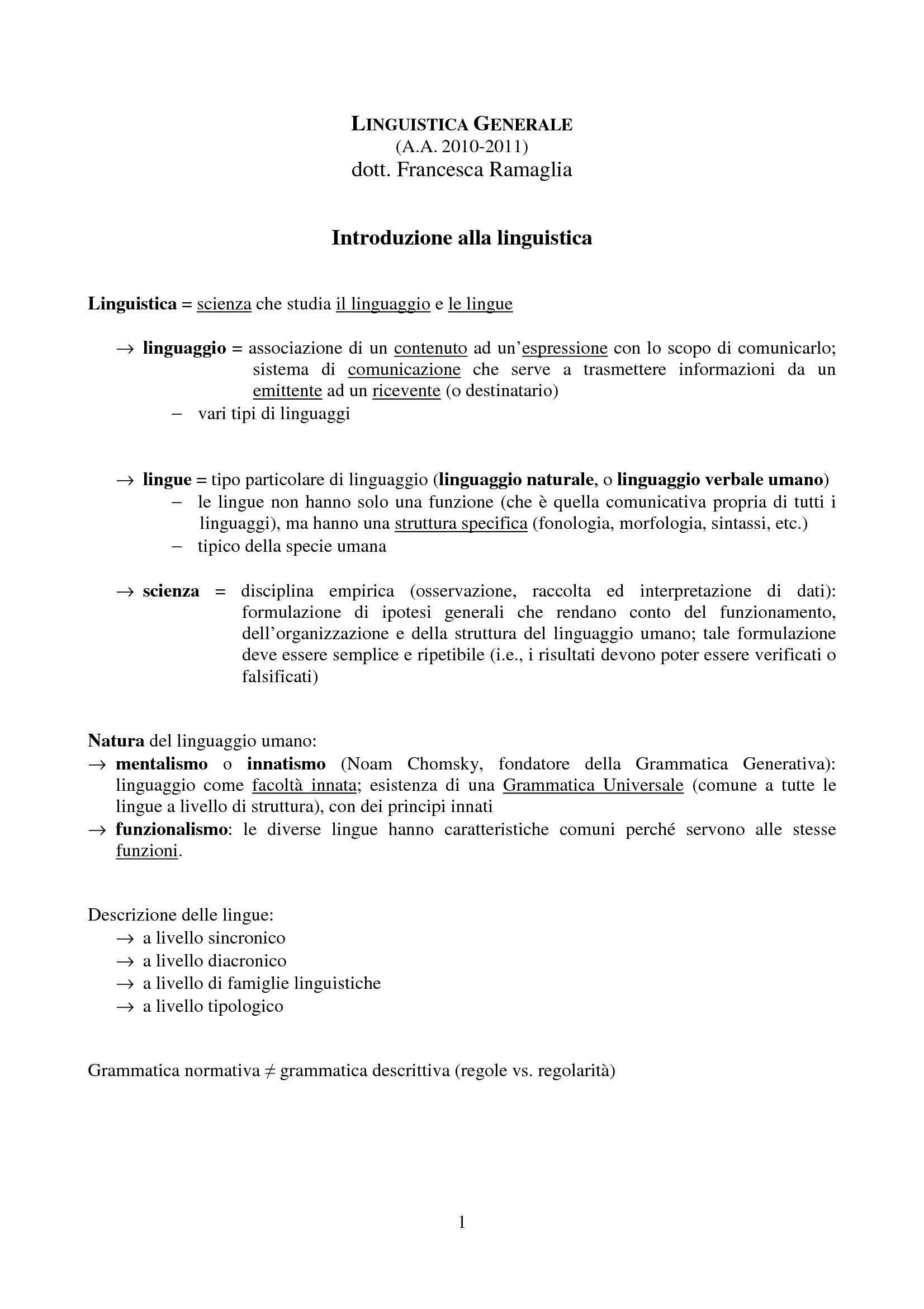 Linguistica - Introduzione