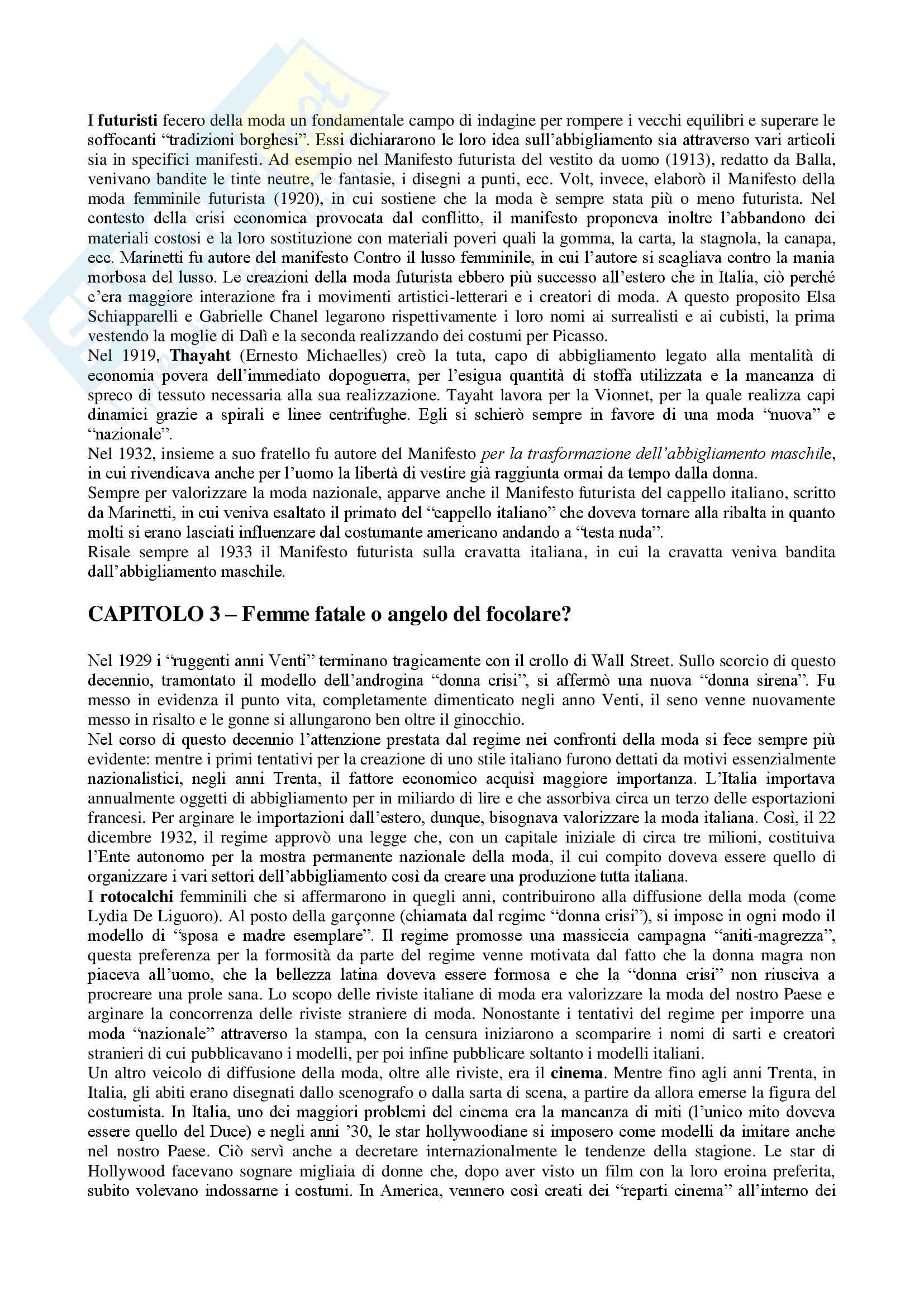 Riassunto esame Storia e Documentazione della Moda, prof. Canella, libro consigliato Moda. Dalla haute couture ad oggi, di S. Gnoli Pag. 6