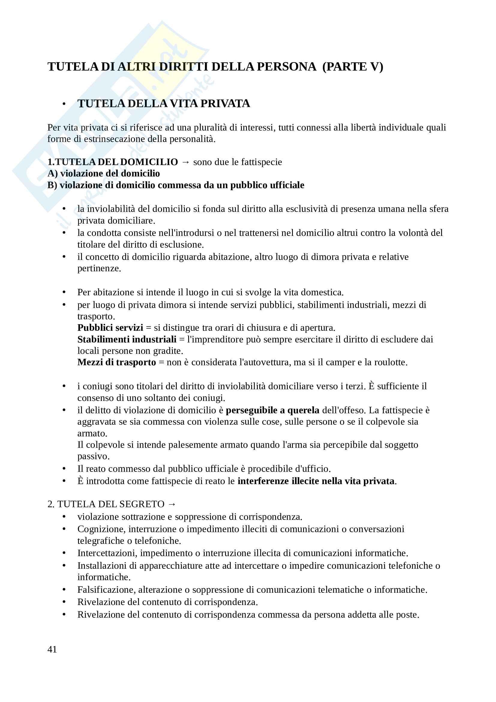 Diritto penale - Appunti lezioni Pag. 41