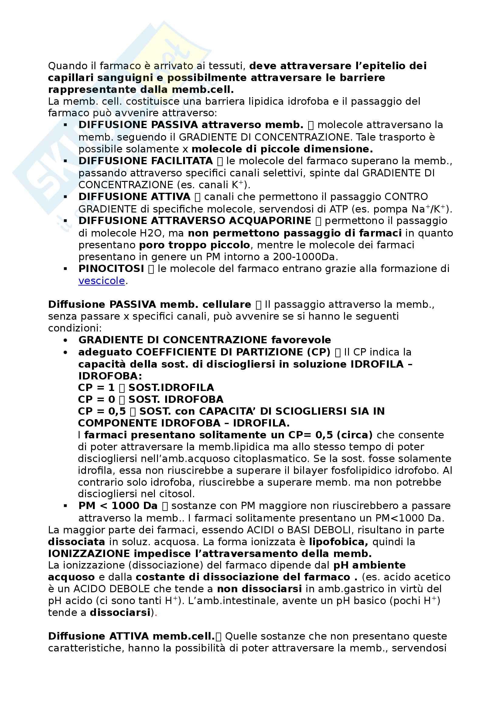 Farmacologia - Appunti Pag. 11