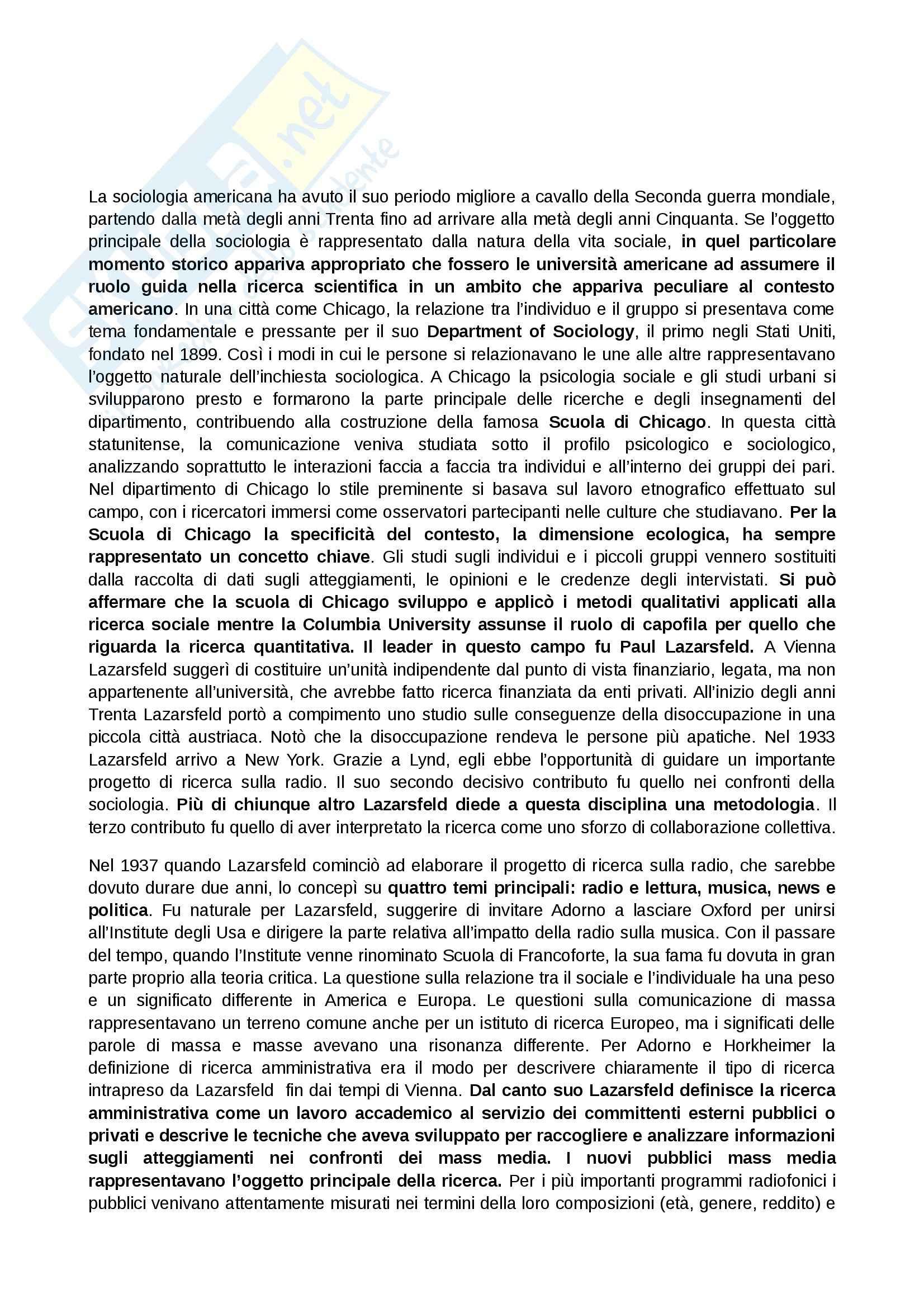 Riassunto esame Sociologia della comunicazione, prof. Paccagnella, libro consigliato Media e comunicazione, Scannell
