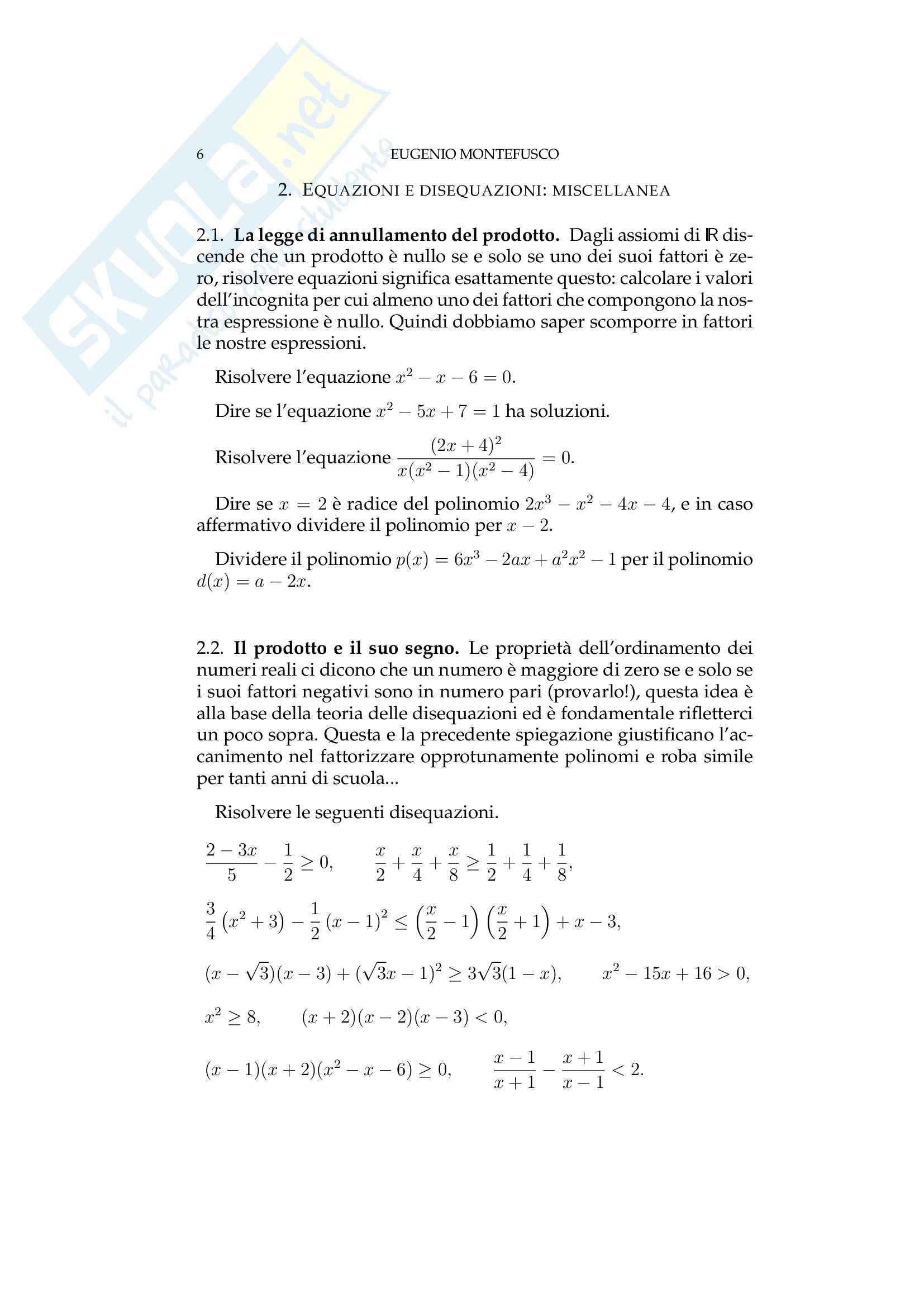 Matematica per le applicazioni I - i numeri razionali Pag. 6