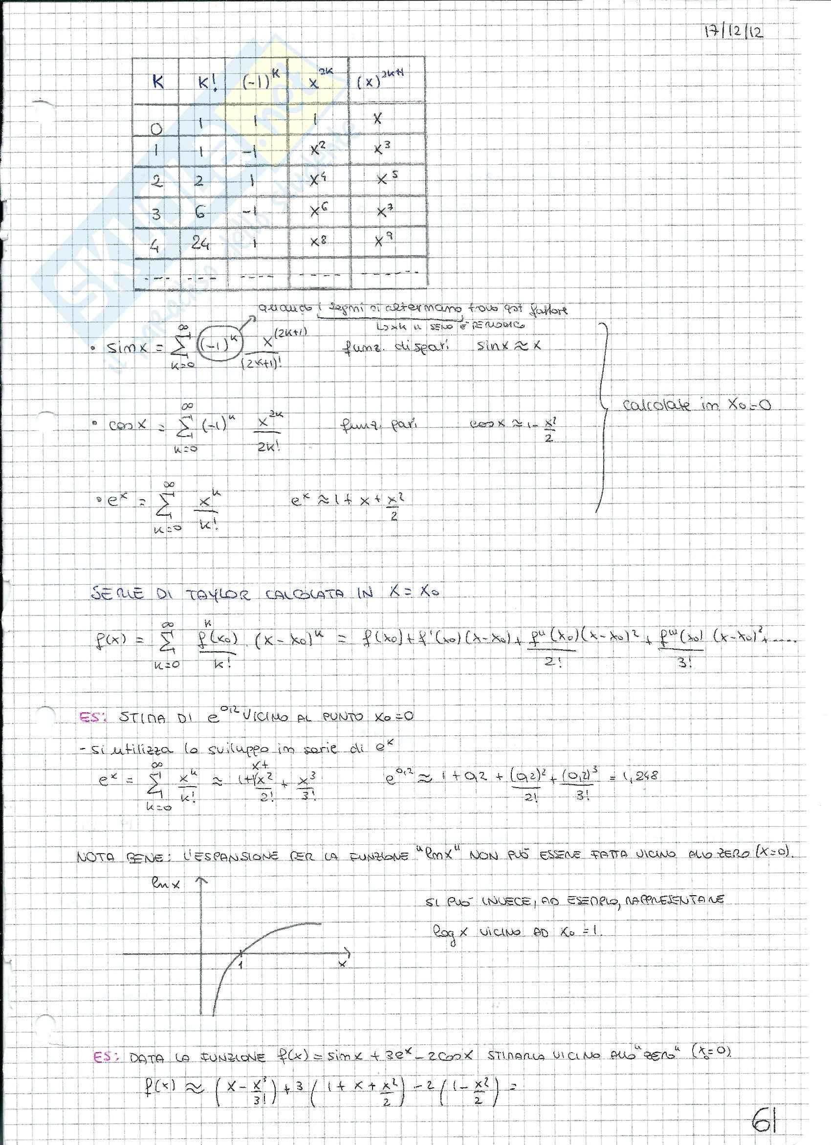 Matematica e statistica - Appunti secondo parziale Pag. 11