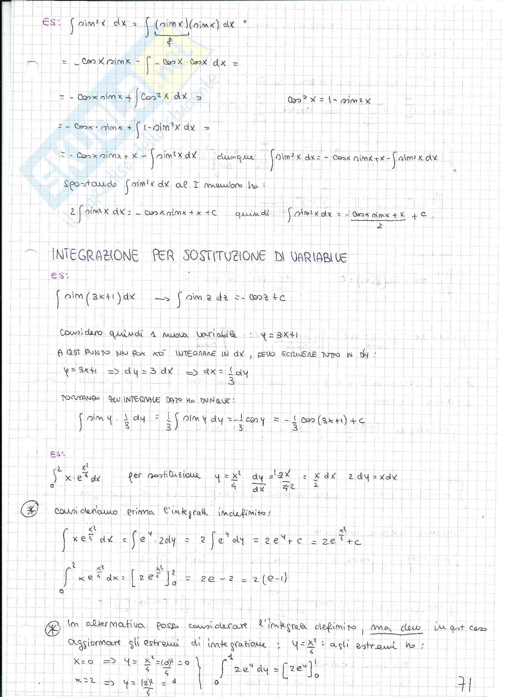 Matematica e statistica - Appunti secondo parziale Pag. 21
