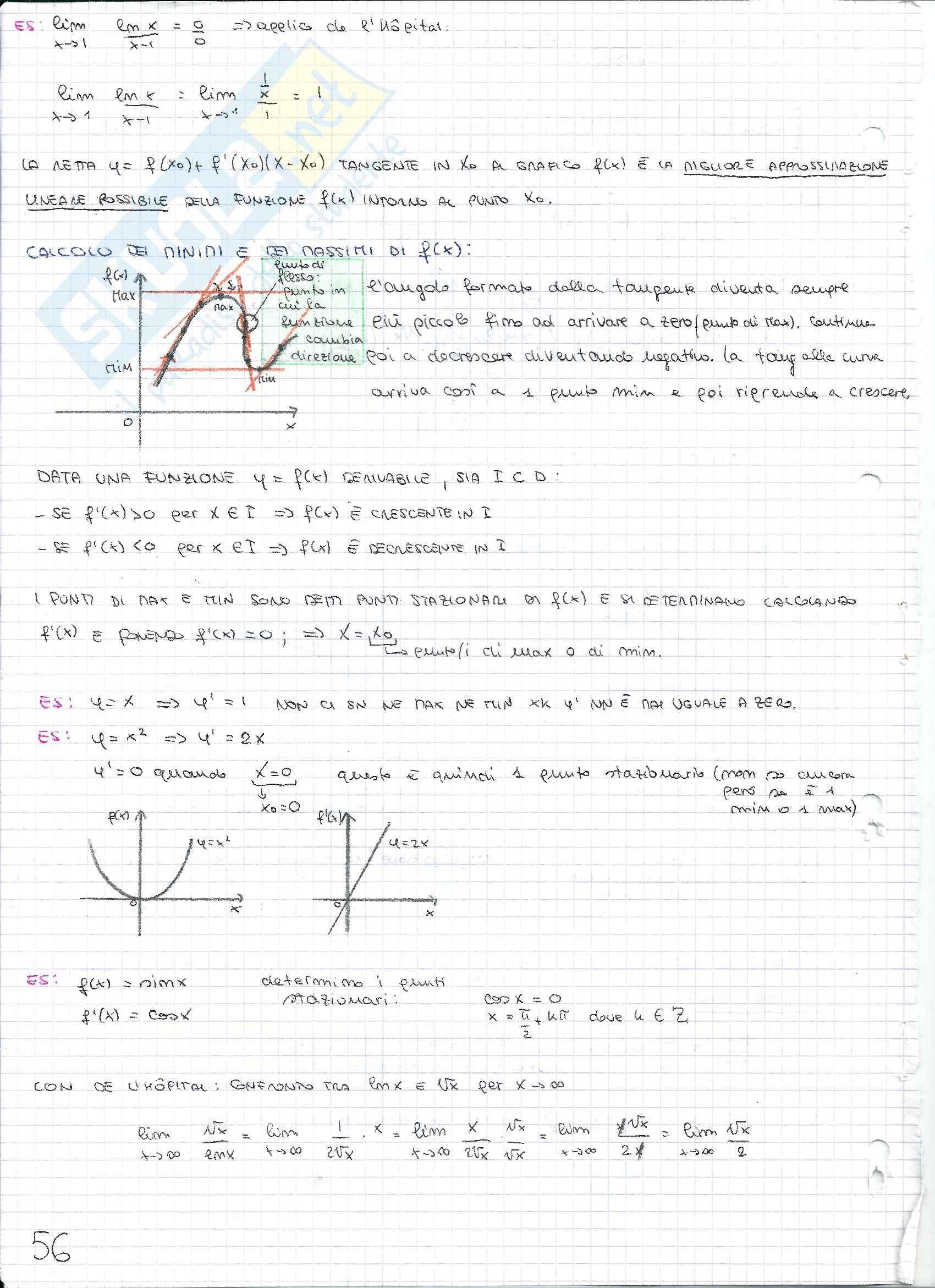 Matematica e statistica - Appunti secondo parziale Pag. 6