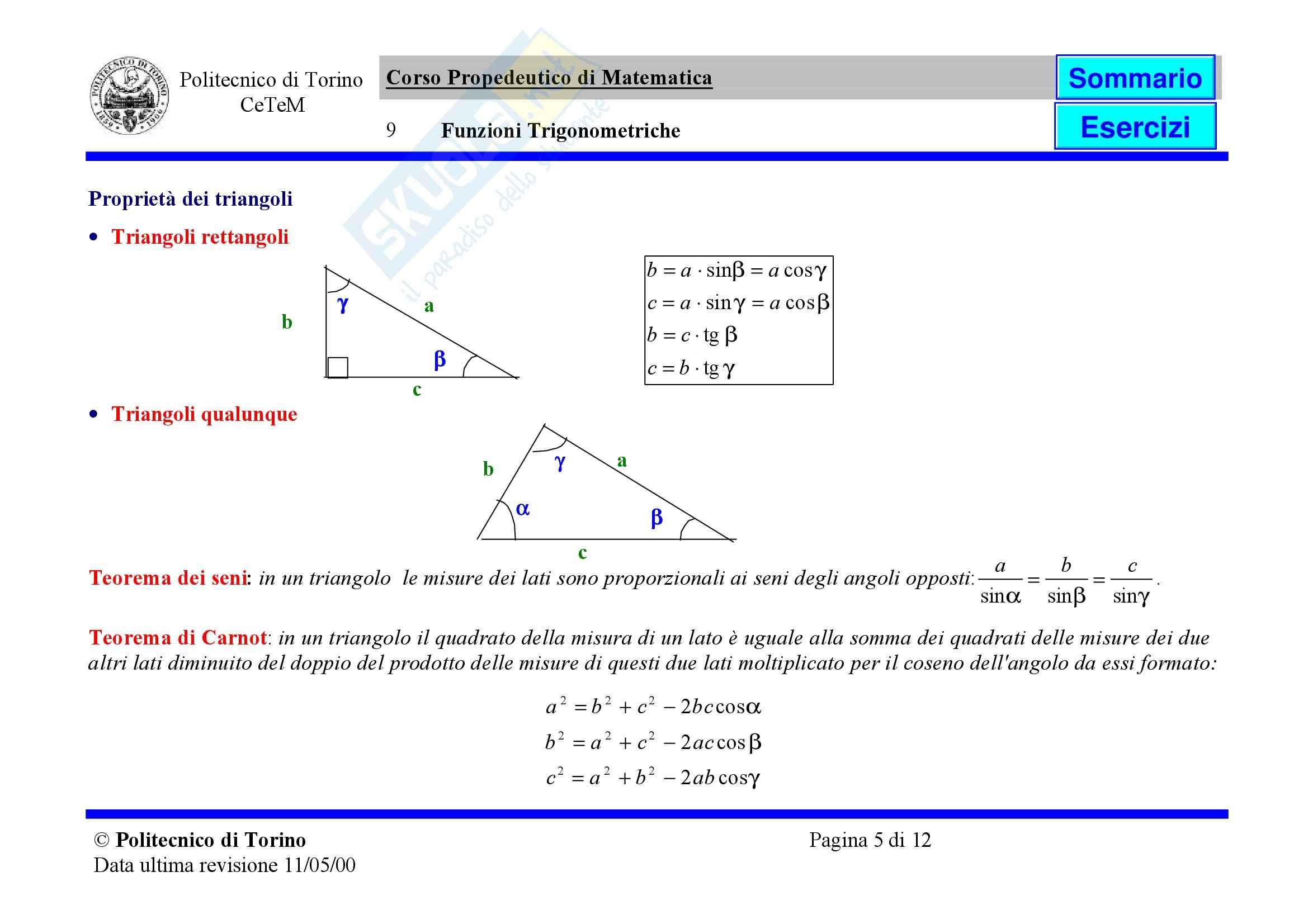 Matematica per le applicazioni I - Appunti Pag. 86