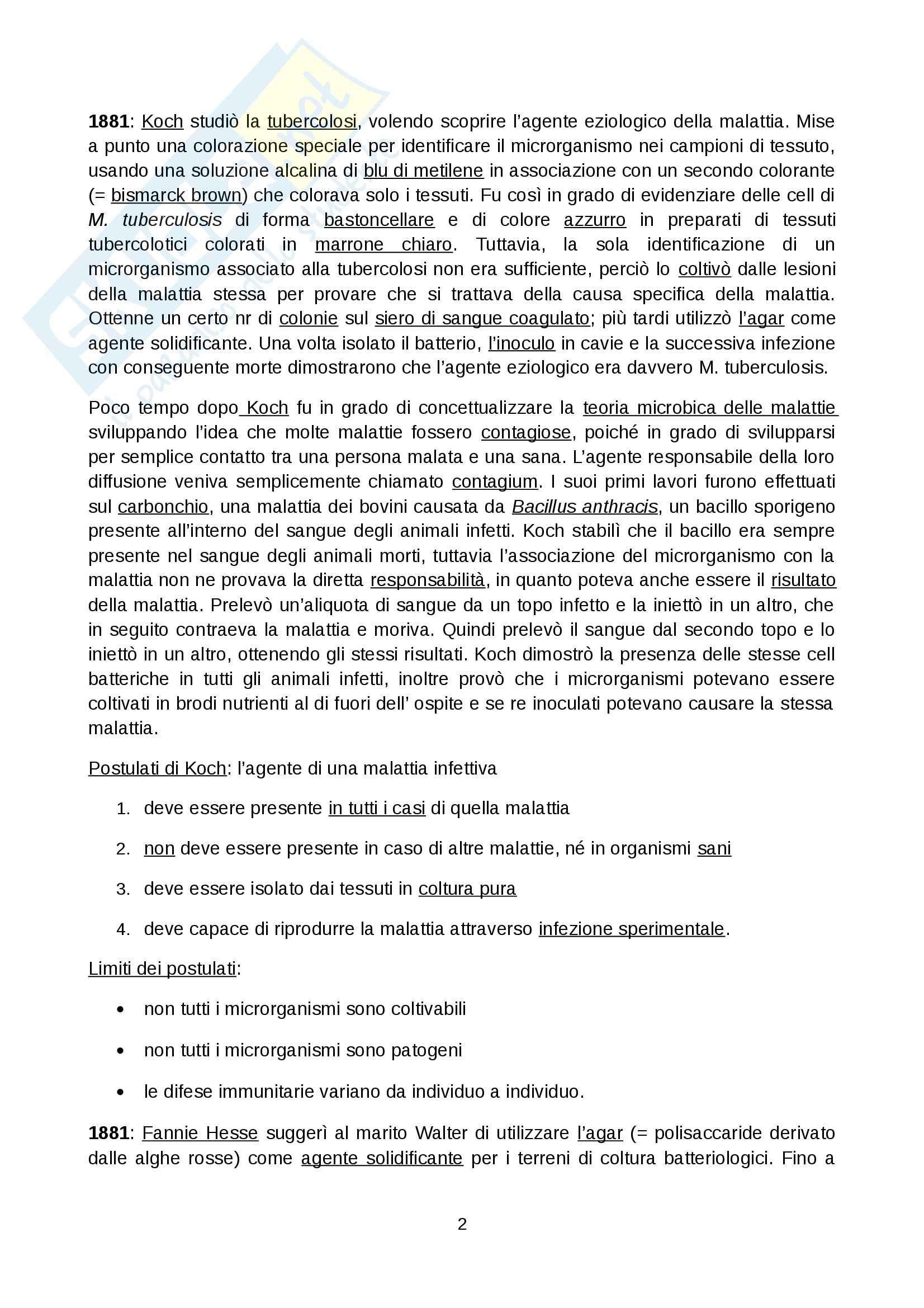 Microbiologia generale - Appunti Pag. 2
