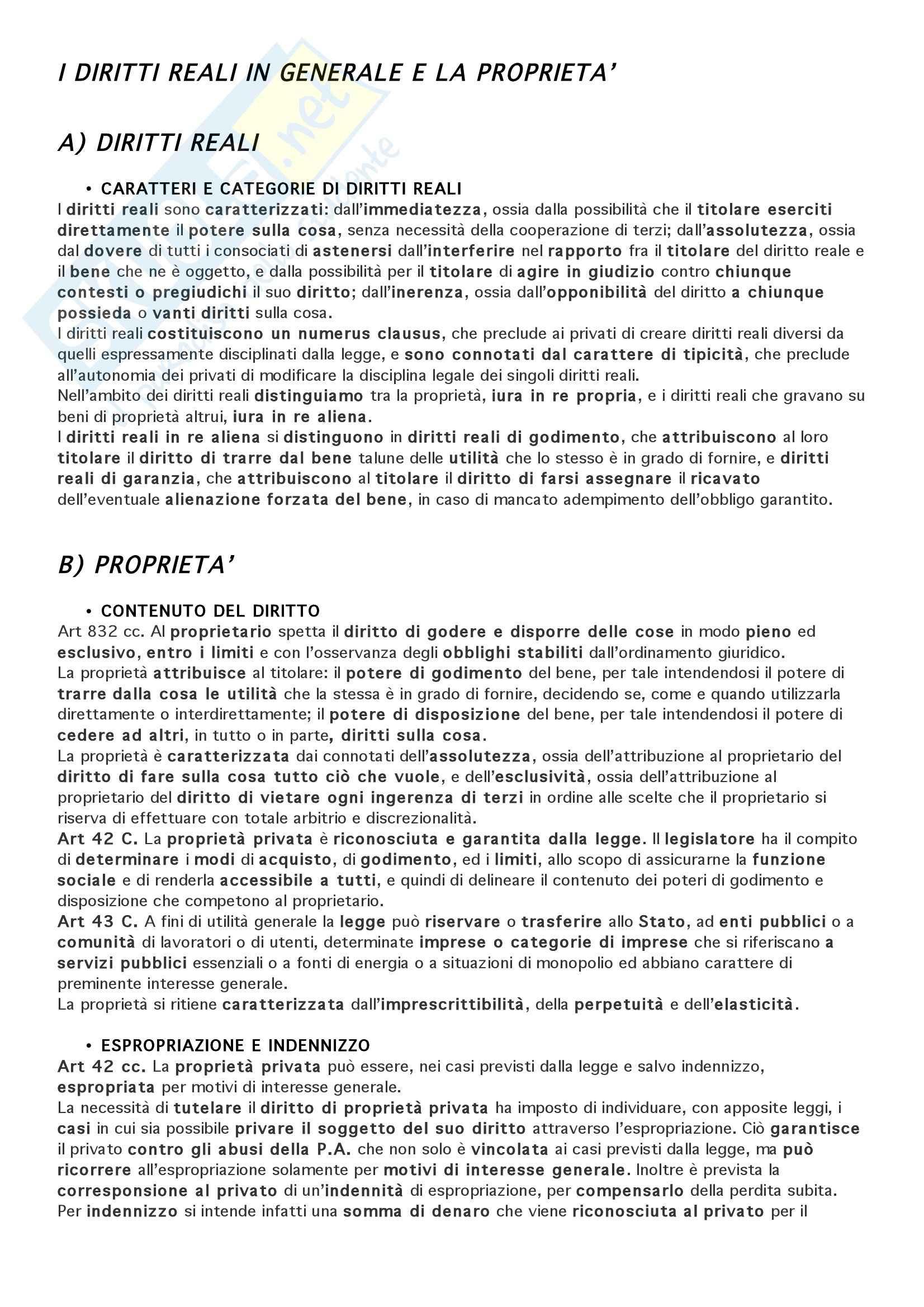 Manuale di diritto privato, Torrente - Appunti