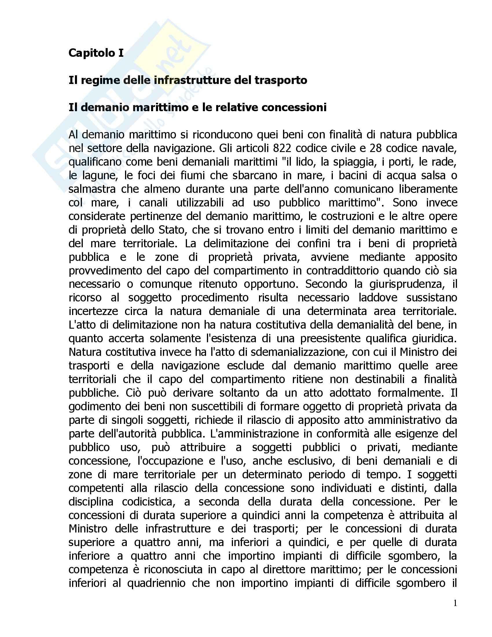 Diritto della navigazione - Riassunto esame, prof. Tullio