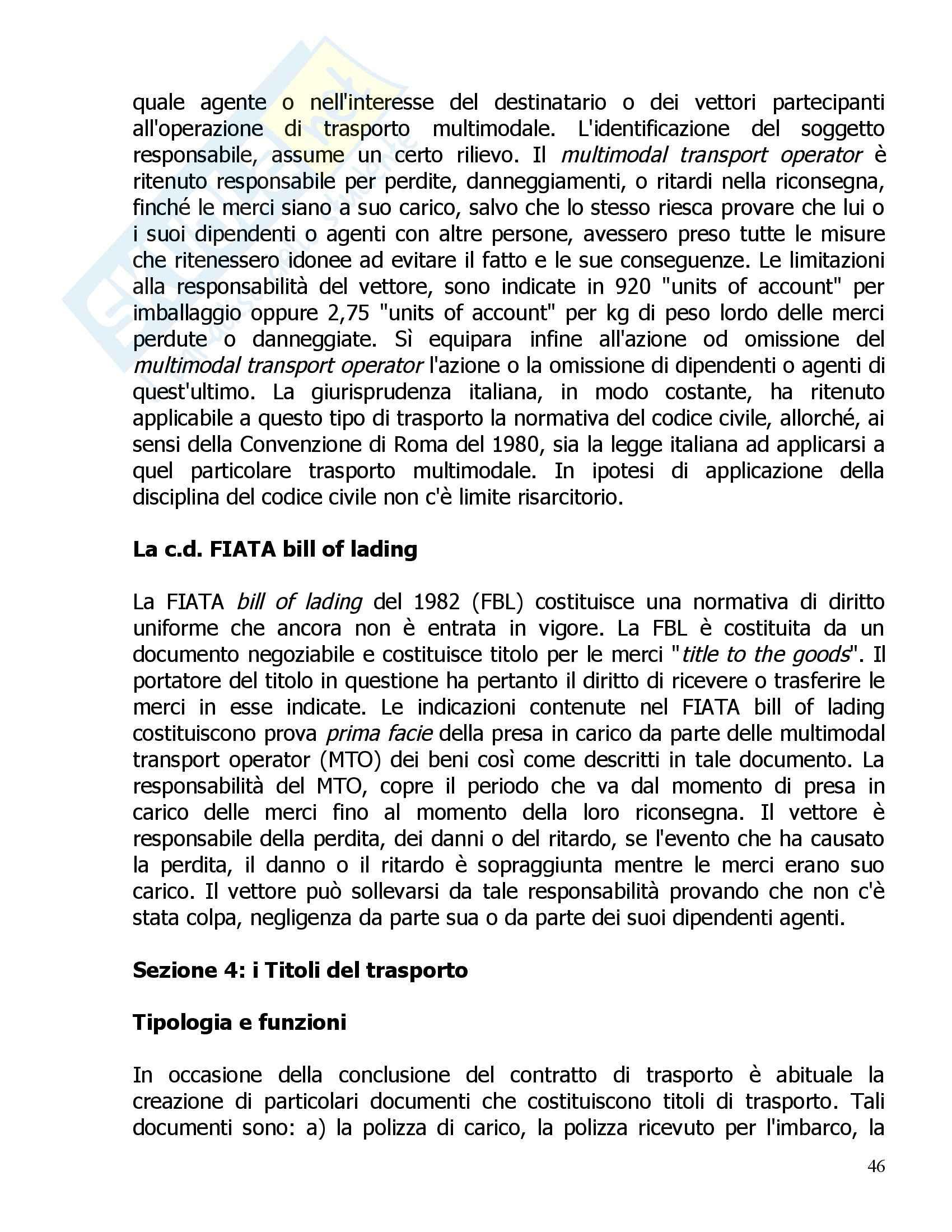 Diritto della navigazione - Riassunto esame, prof. Tullio Pag. 46