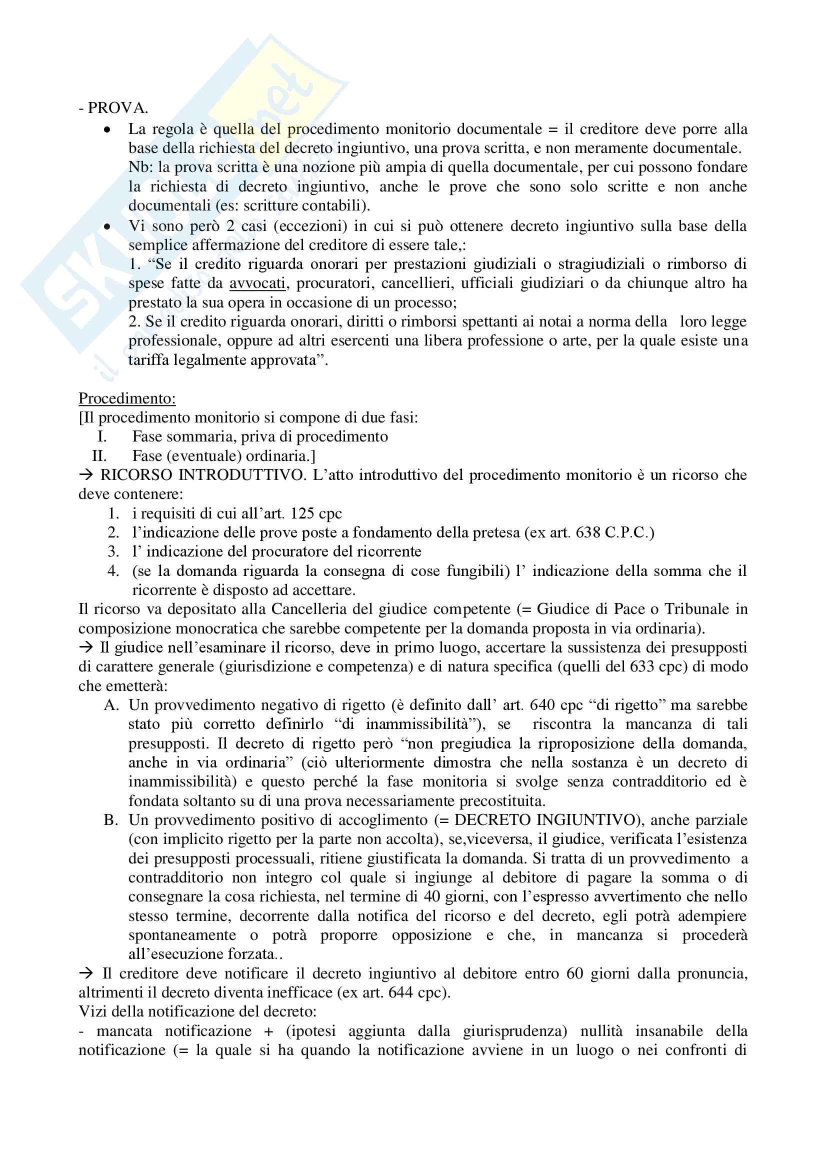 Riassunto esame Diritto, prof. Auletta, libro consigliato Verde: libro IV Pag. 2