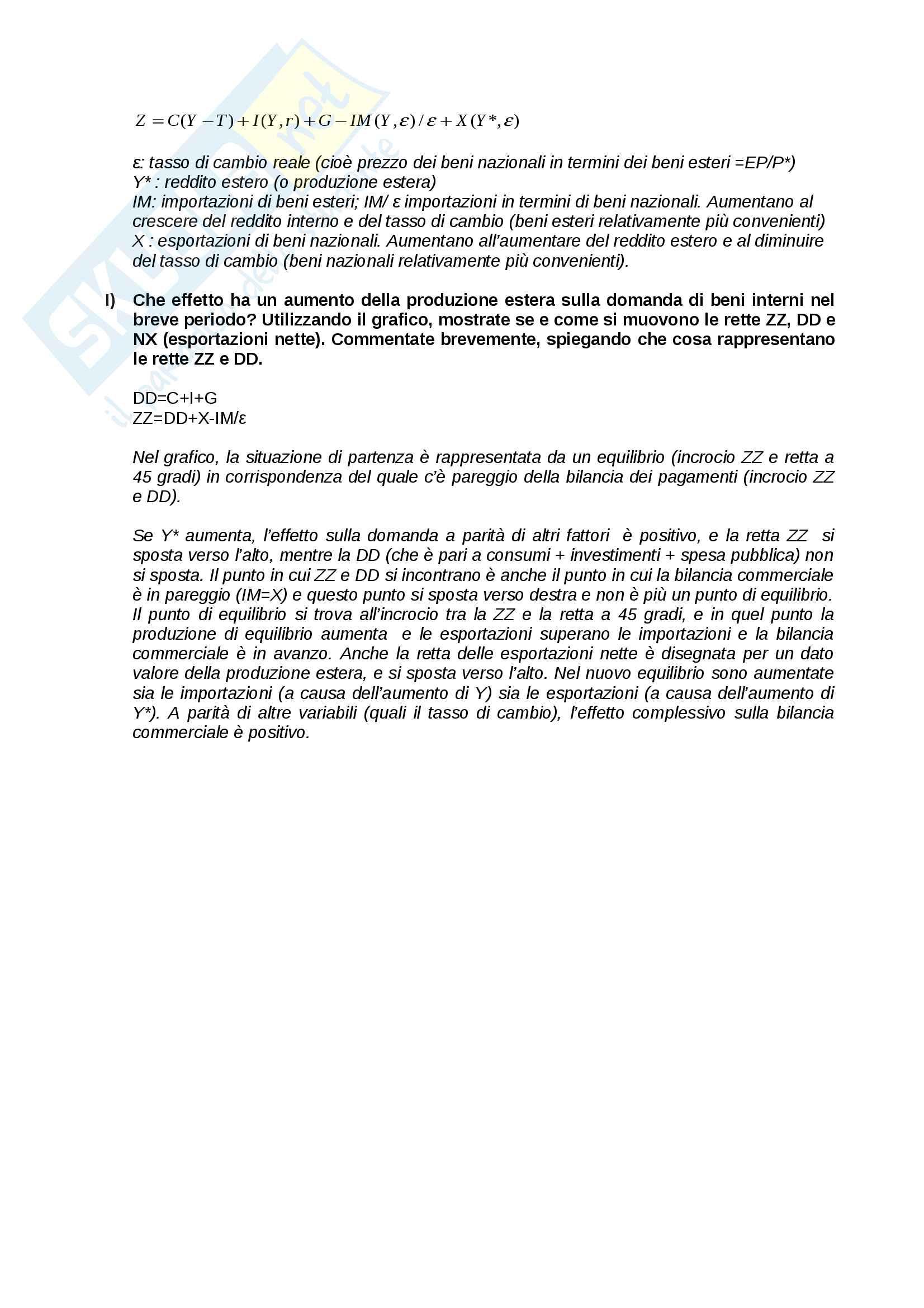 Soluzione esercizi appelli Macroeconomia Pag. 11