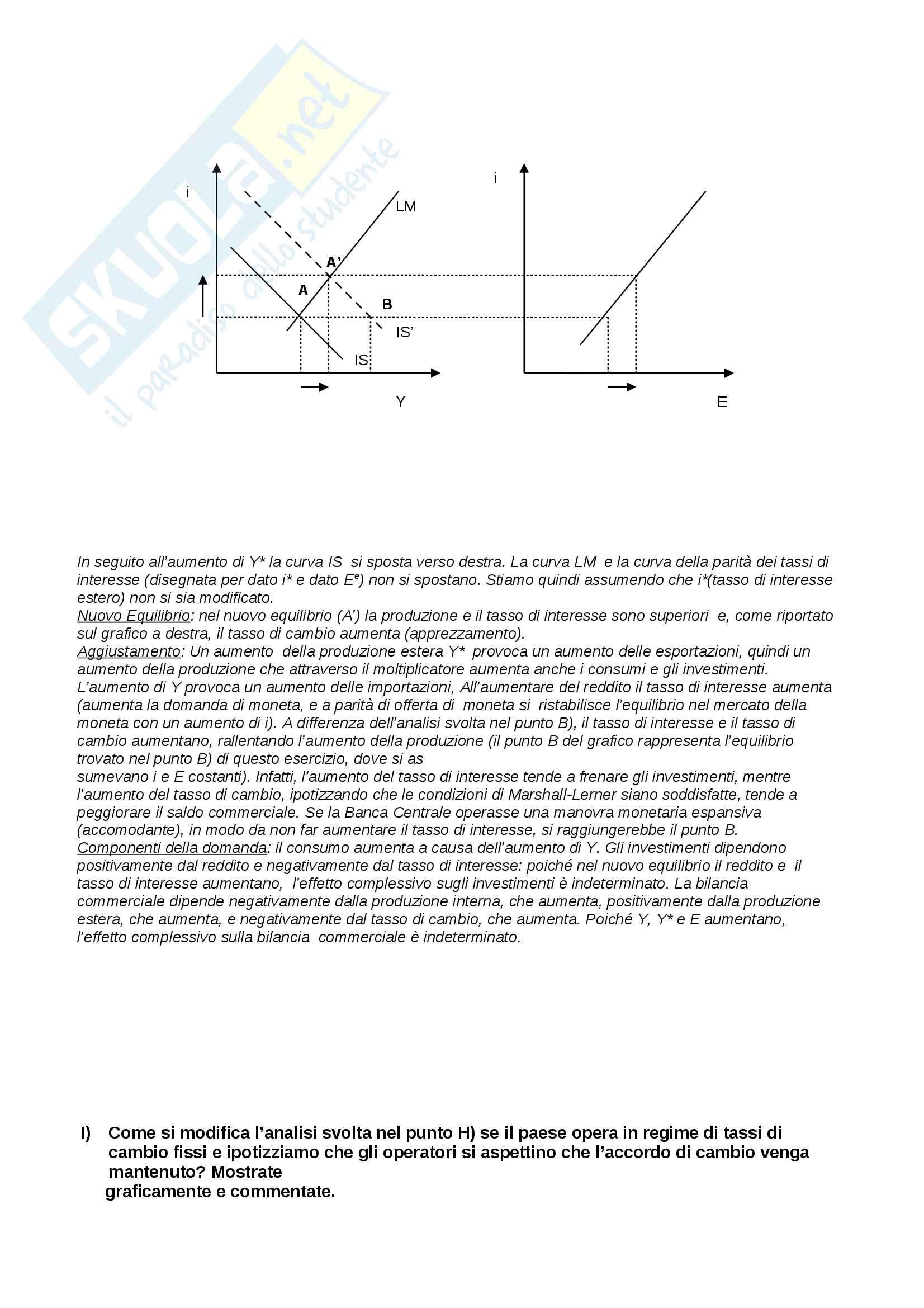 Soluzione esercizi appelli Macroeconomia Pag. 6