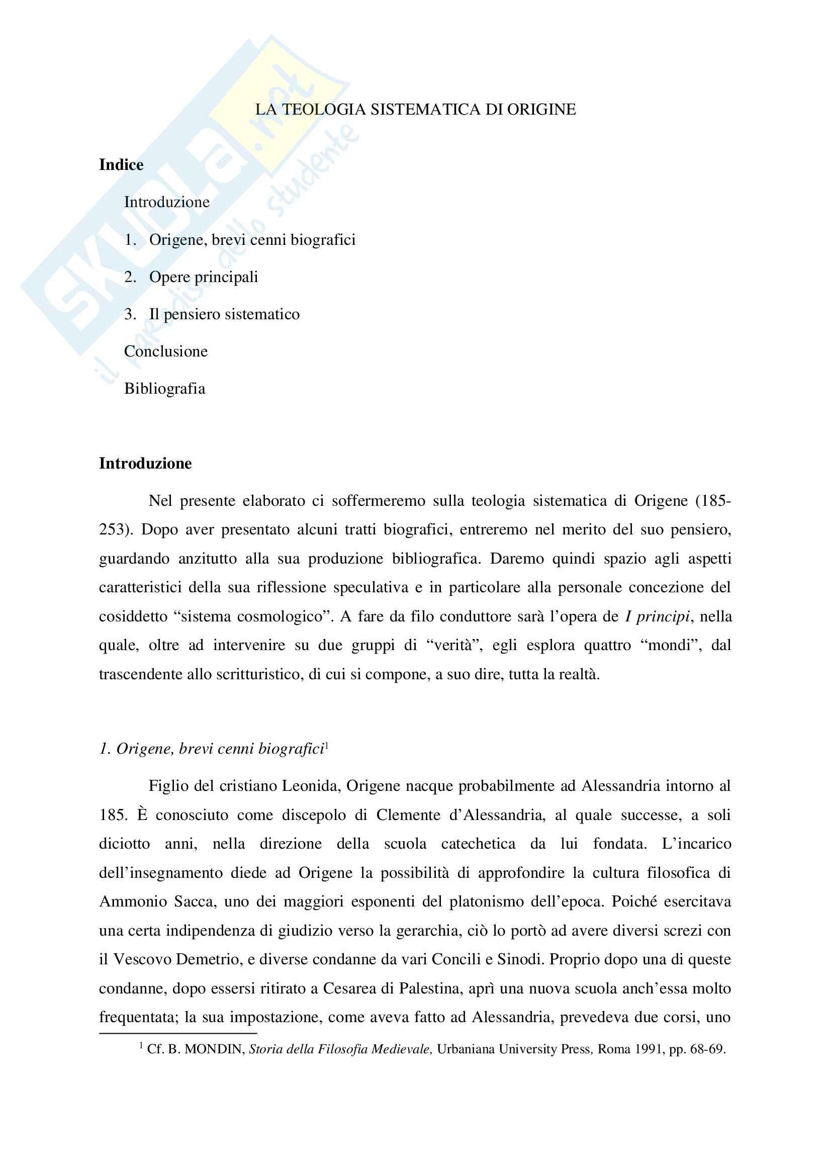 appunto E. Gammarelli Storia della filosofia medievale