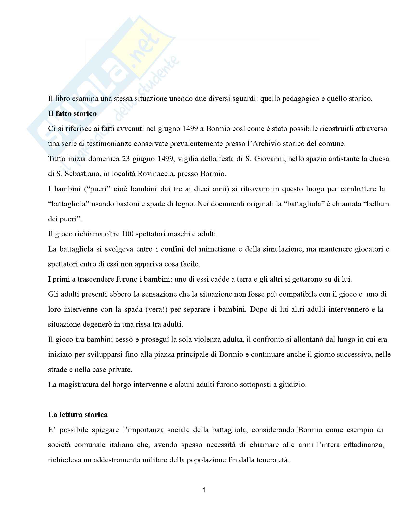 Riassunto esame Pedagogia dell'adolescenza e del gioco, prof. Barone, libro consigliato La guerra dei bambini, Antonacci, Della Misericordia