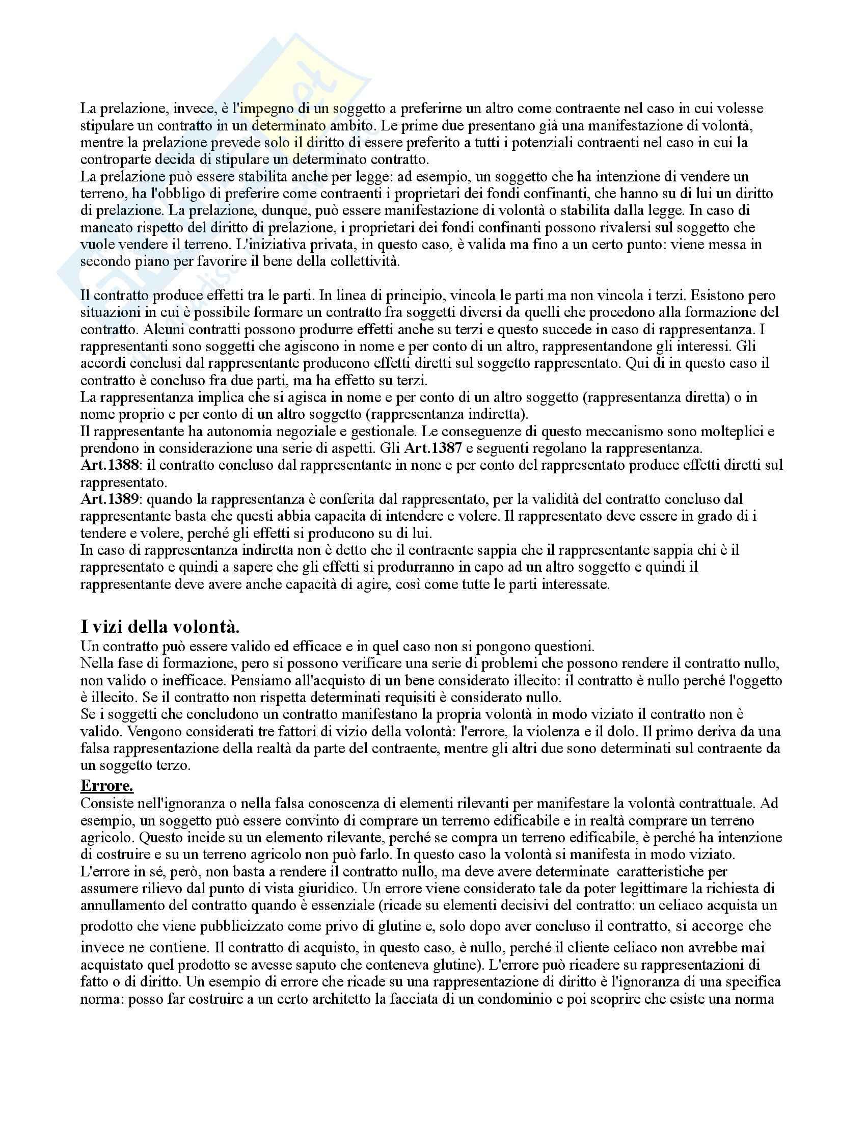 Riassunto esame Diritto Privato, prof. Rossi, libro consigliato Diritto privato-linee essenziali, Roppo Pag. 21