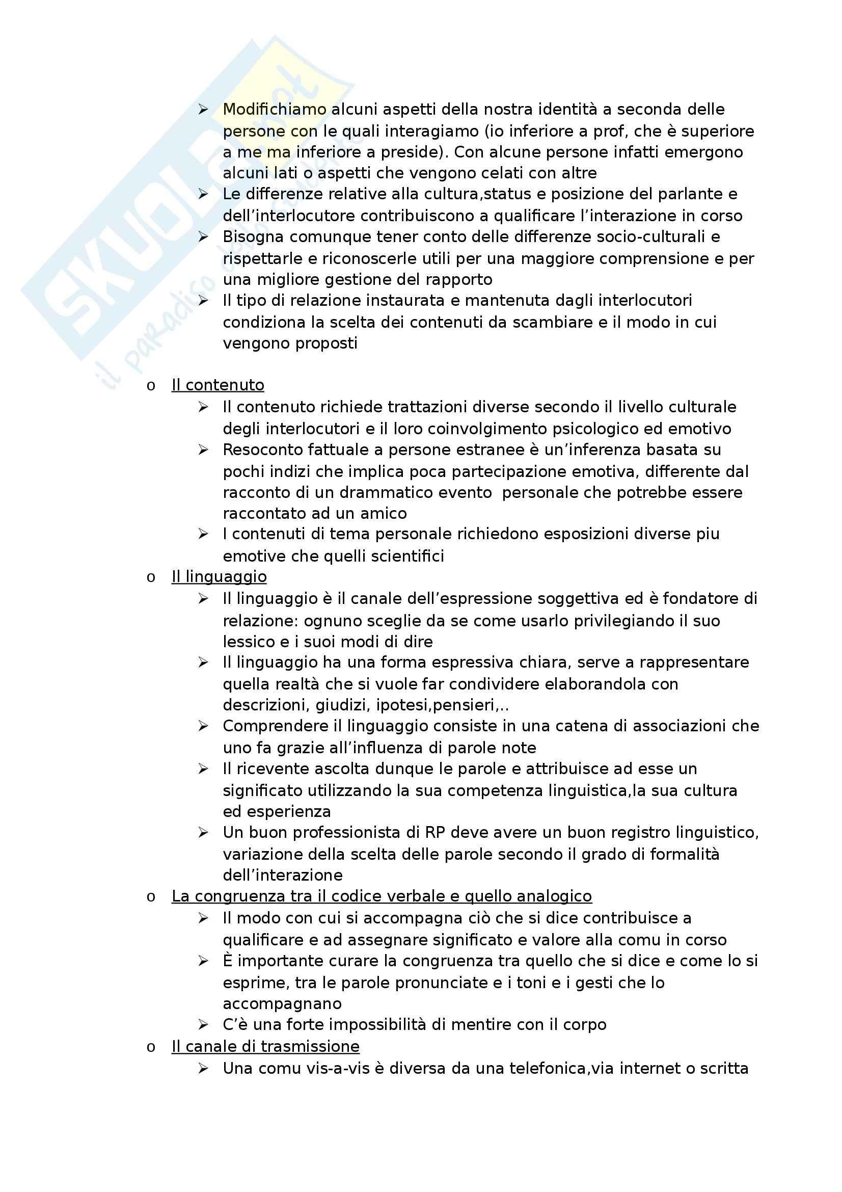 Riassunto esame Relazioni Pubbliche e Comunicazione d'Impresa, prof. Invernizzi, libro consigliato Le Tecniche e i Servizi di Base, Invernizzi Pag. 11