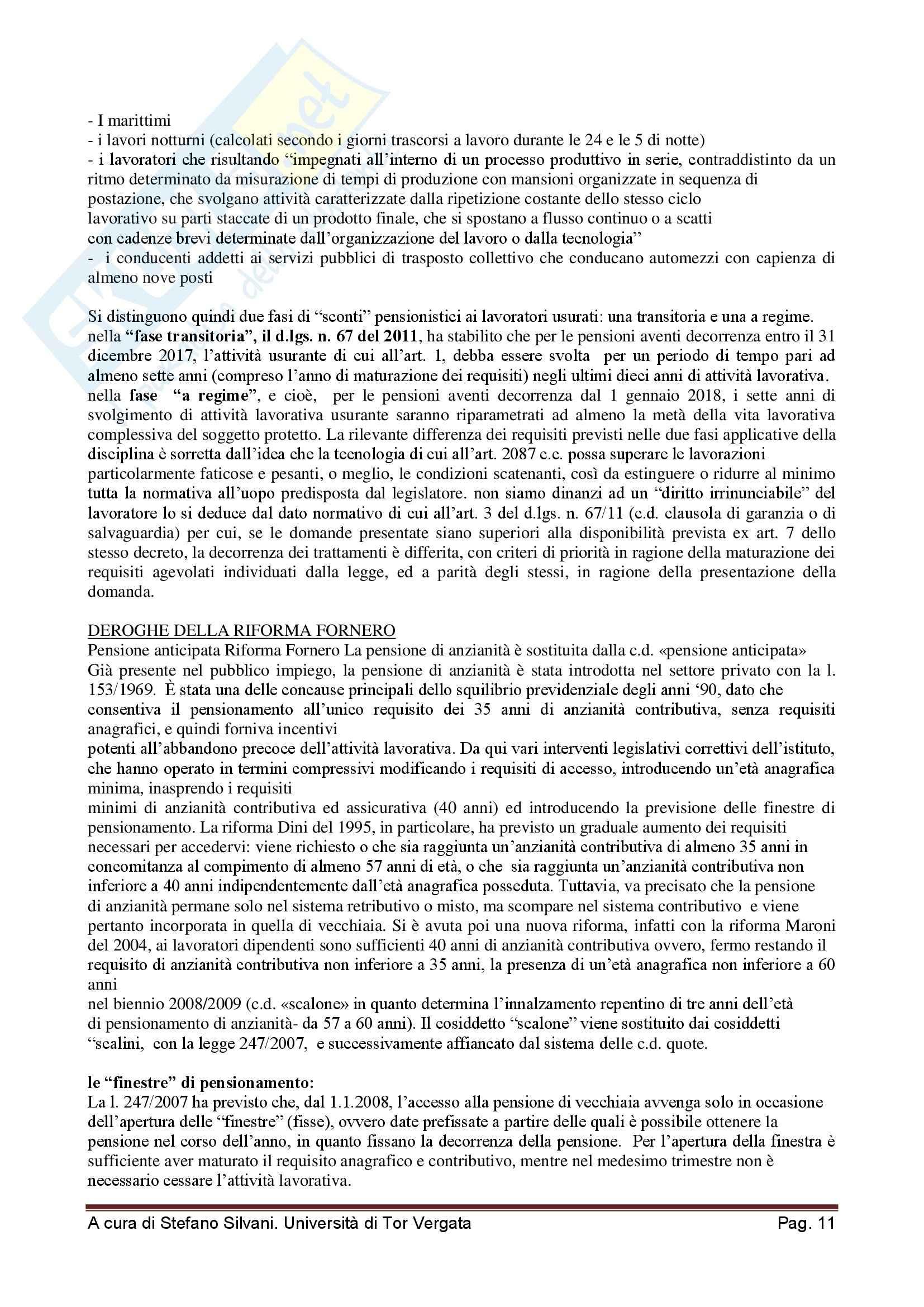 Sistema pensionistico della previdenza complementare e obbligatoria - Appunti Pag. 11