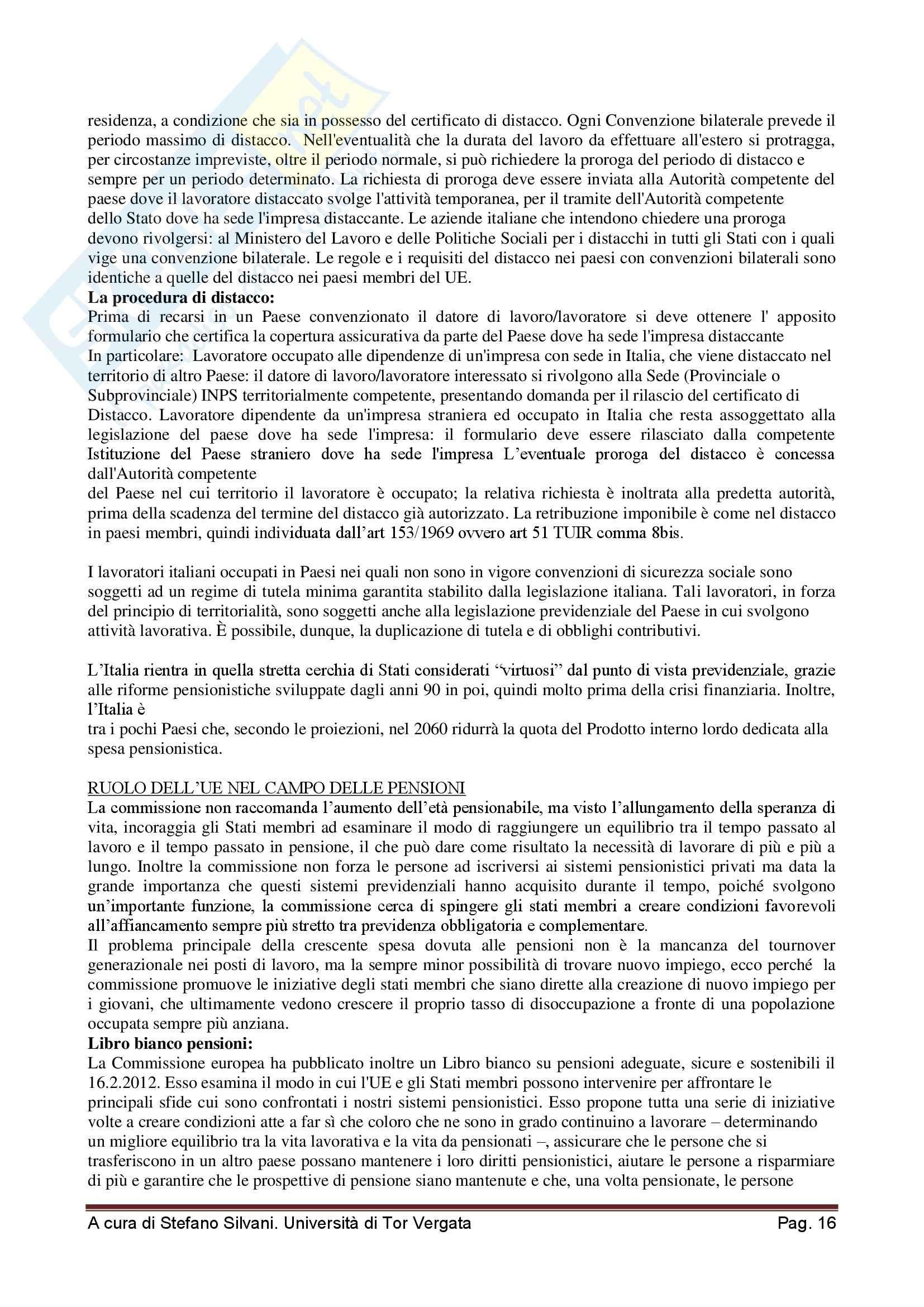 Sistema pensionistico della previdenza complementare e obbligatoria - Appunti Pag. 16