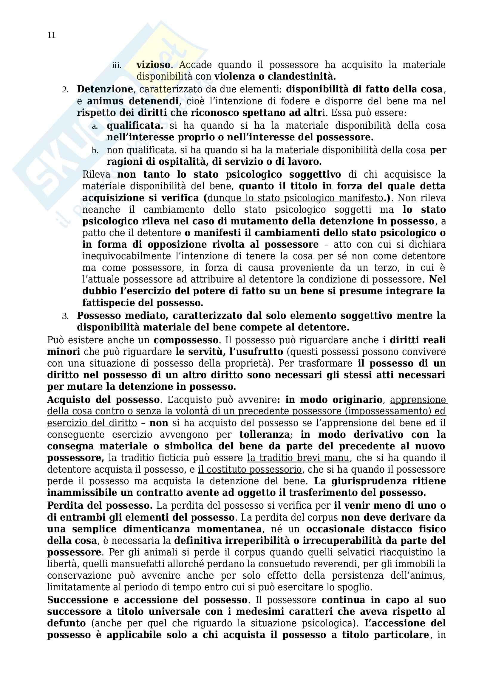 Riassunto esame Diritto privato, prof. Benacchio, libro consigliato Manuale di diritto privato, Torrente, Schlesinger: parte due Pag. 11