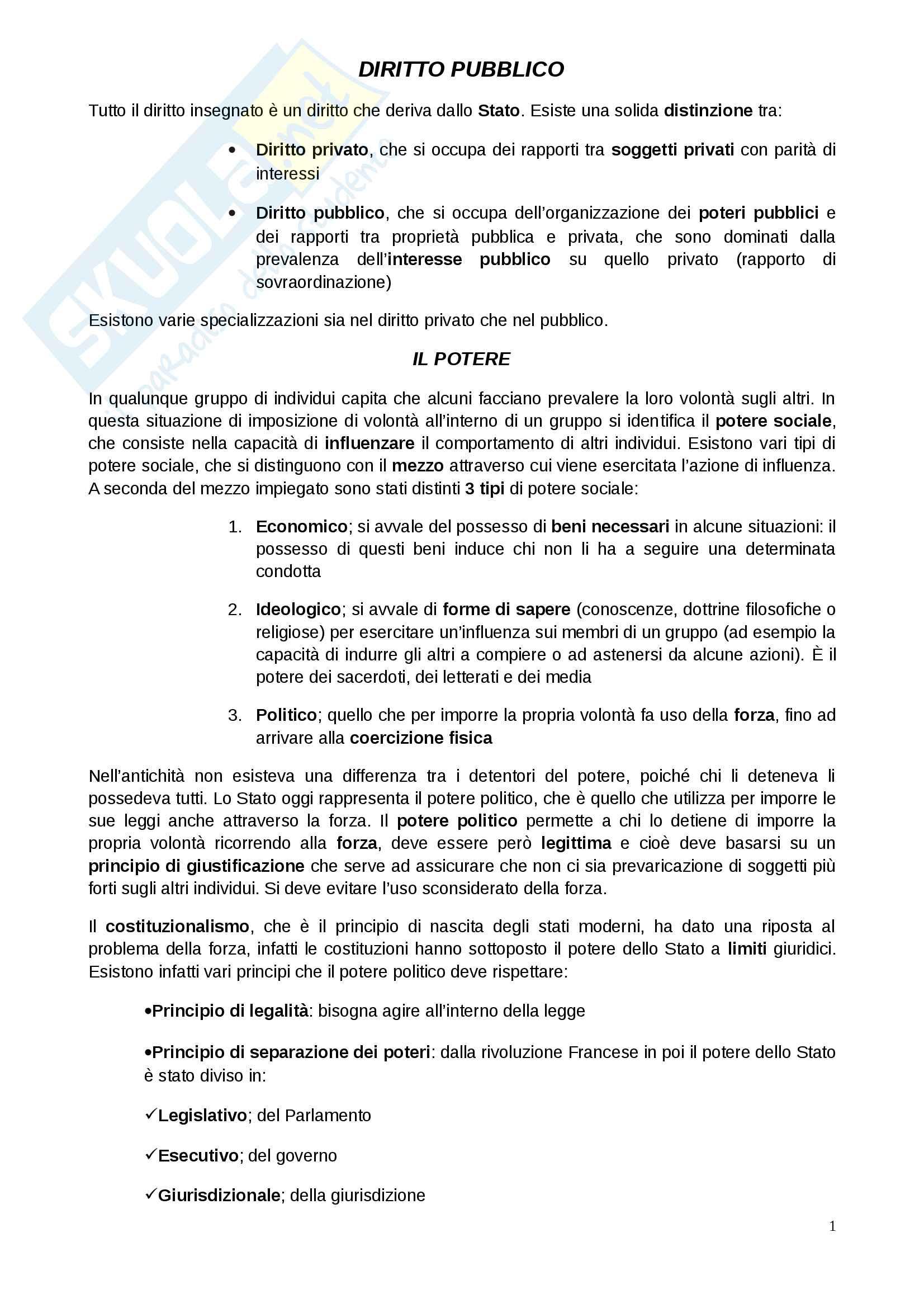 Diritto pubblico, prof. Golino (elementi costitutivi dello Stato, forme di Stato, organi costituzionali e procedimento legislativo)
