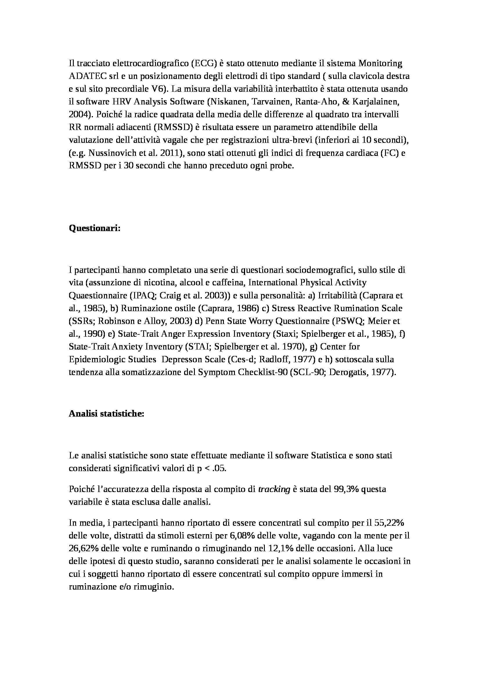 Tesi - Rimuginio e ruminazione in disturbi di ansia e depressione Pag. 26