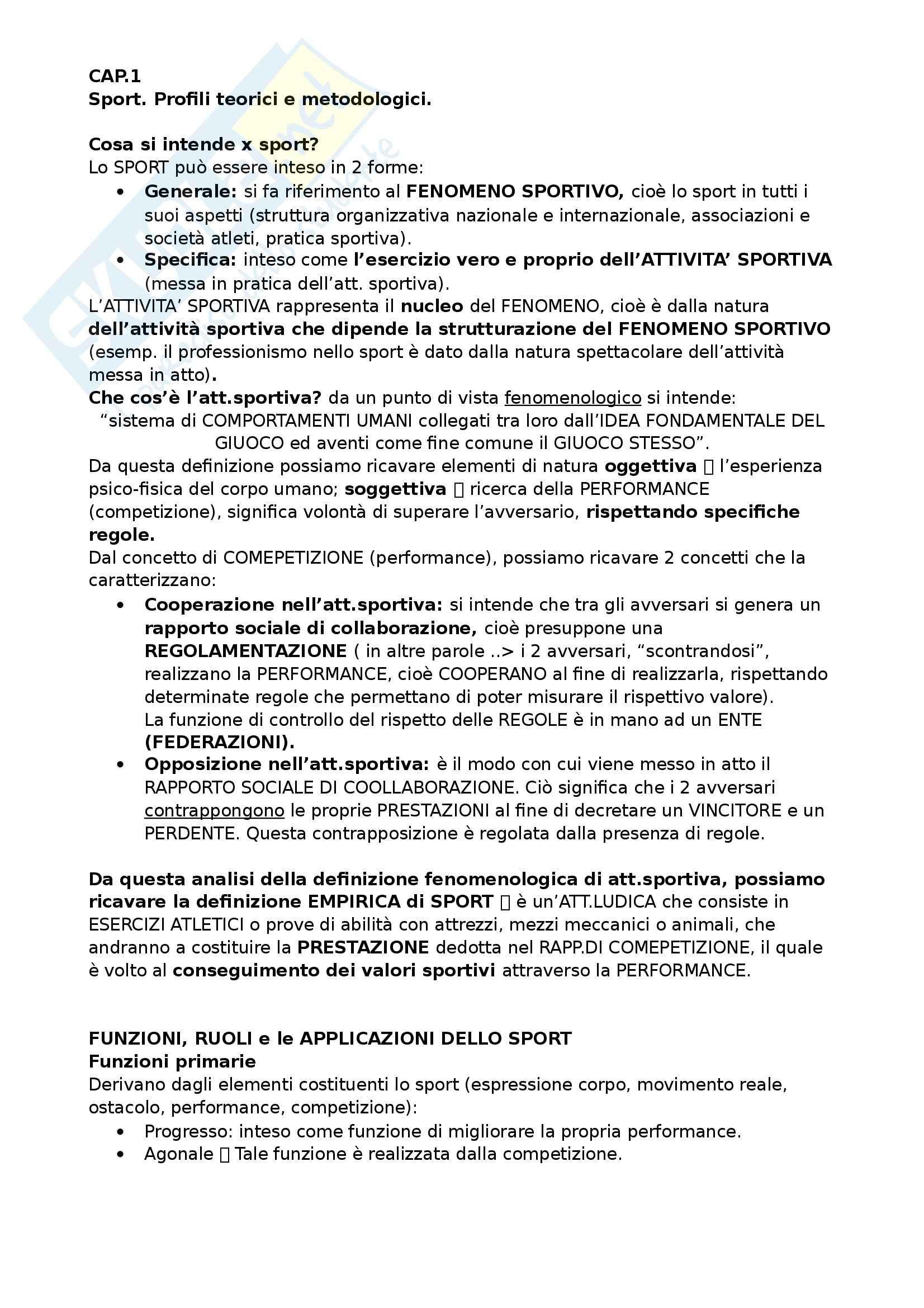 Diritto dello sport - Appunti