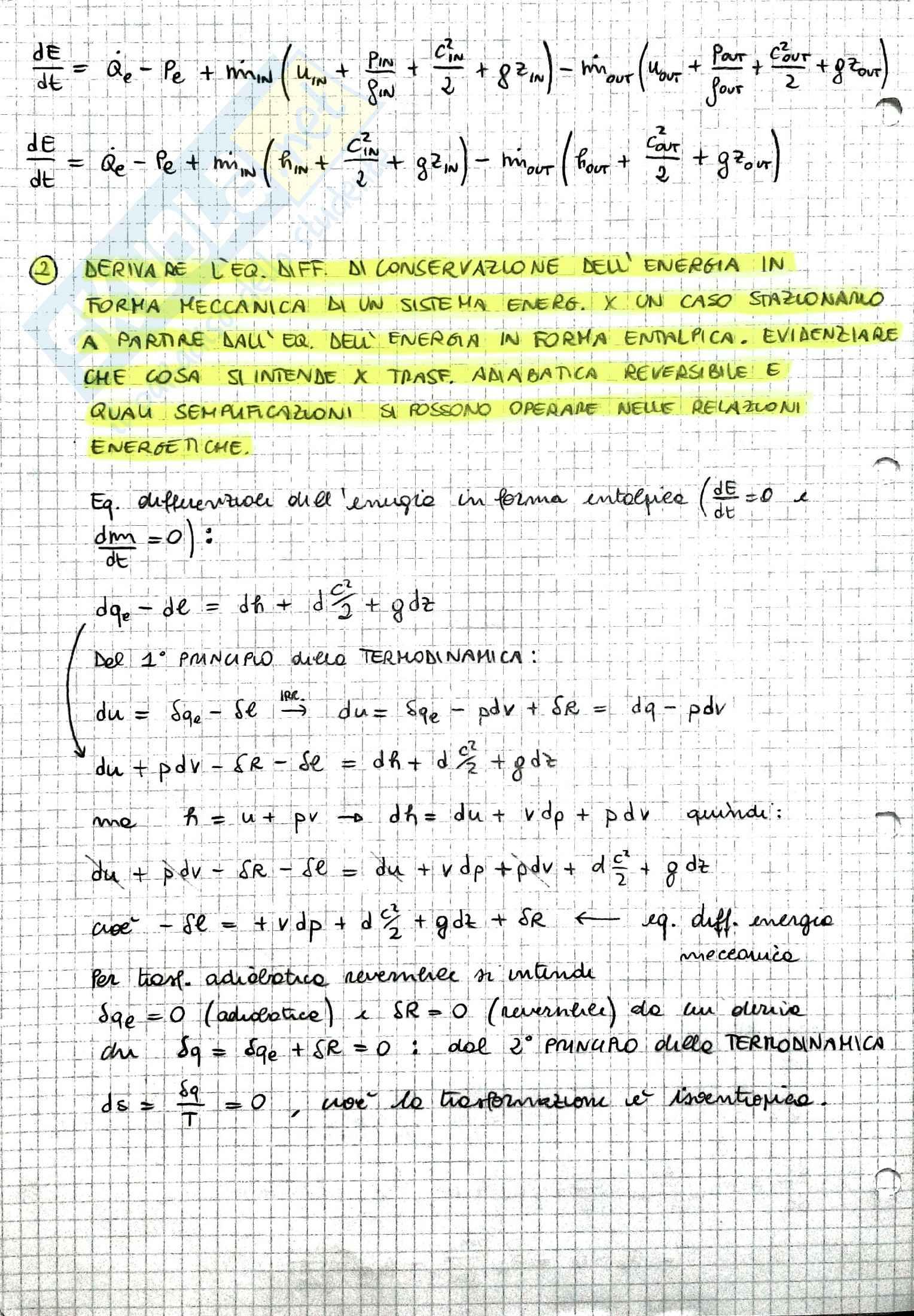 Riassunto Macchine e Sistemi Energetici, prof. Caresana Pag. 2