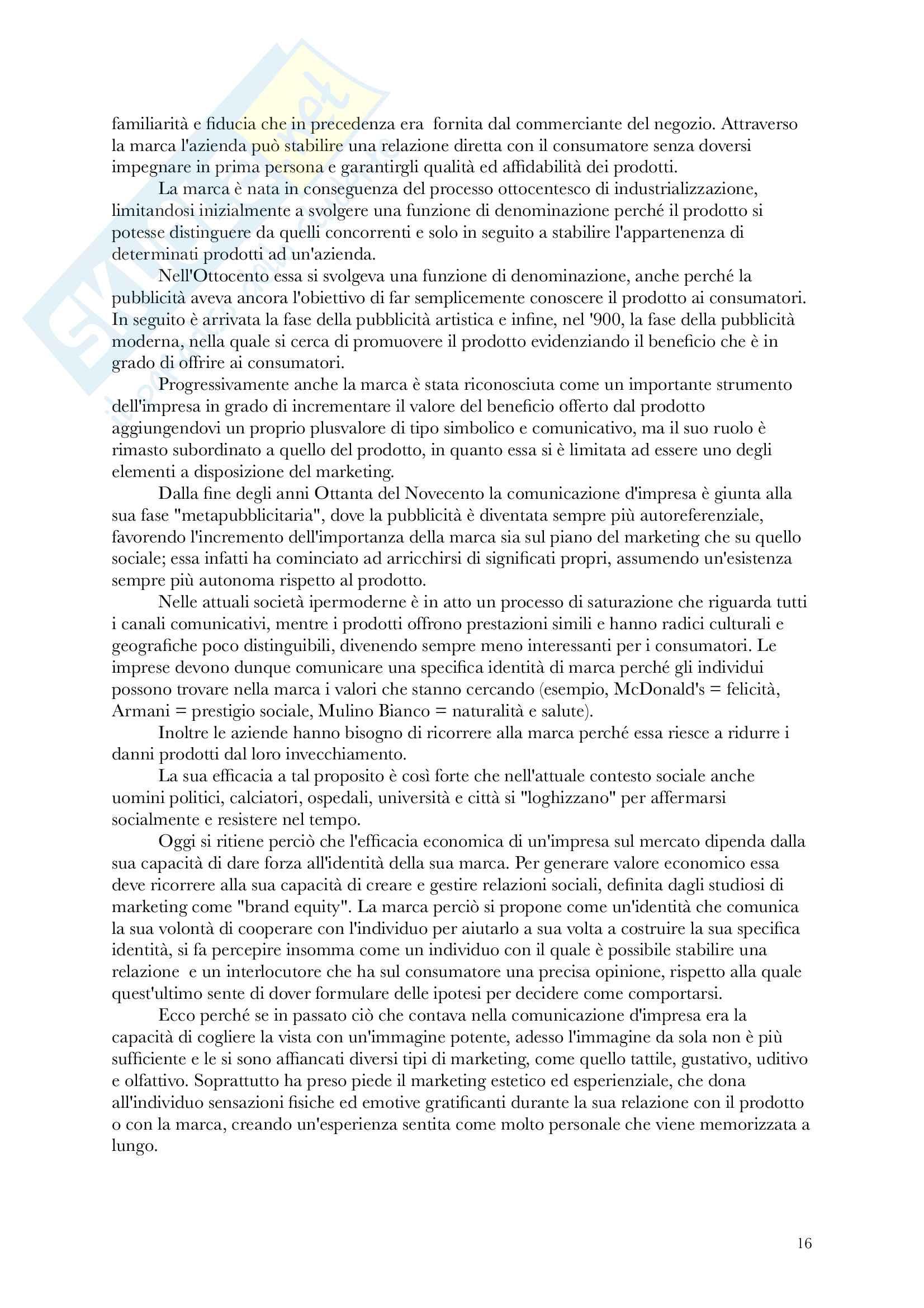Riassunto esame sociologia dei media, prof. Codeluppi, libro consigliato Ipermondo, V. Codeluppi Pag. 16