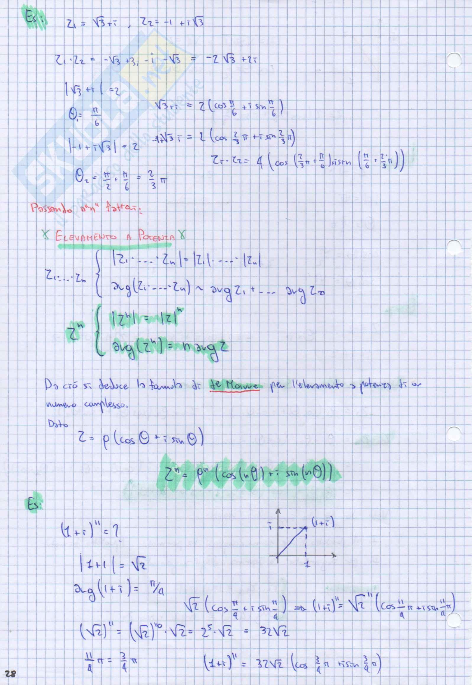 """Analisi 1 Teoria """"I Numeri Complessi"""" [cap. III] Pag. 6"""
