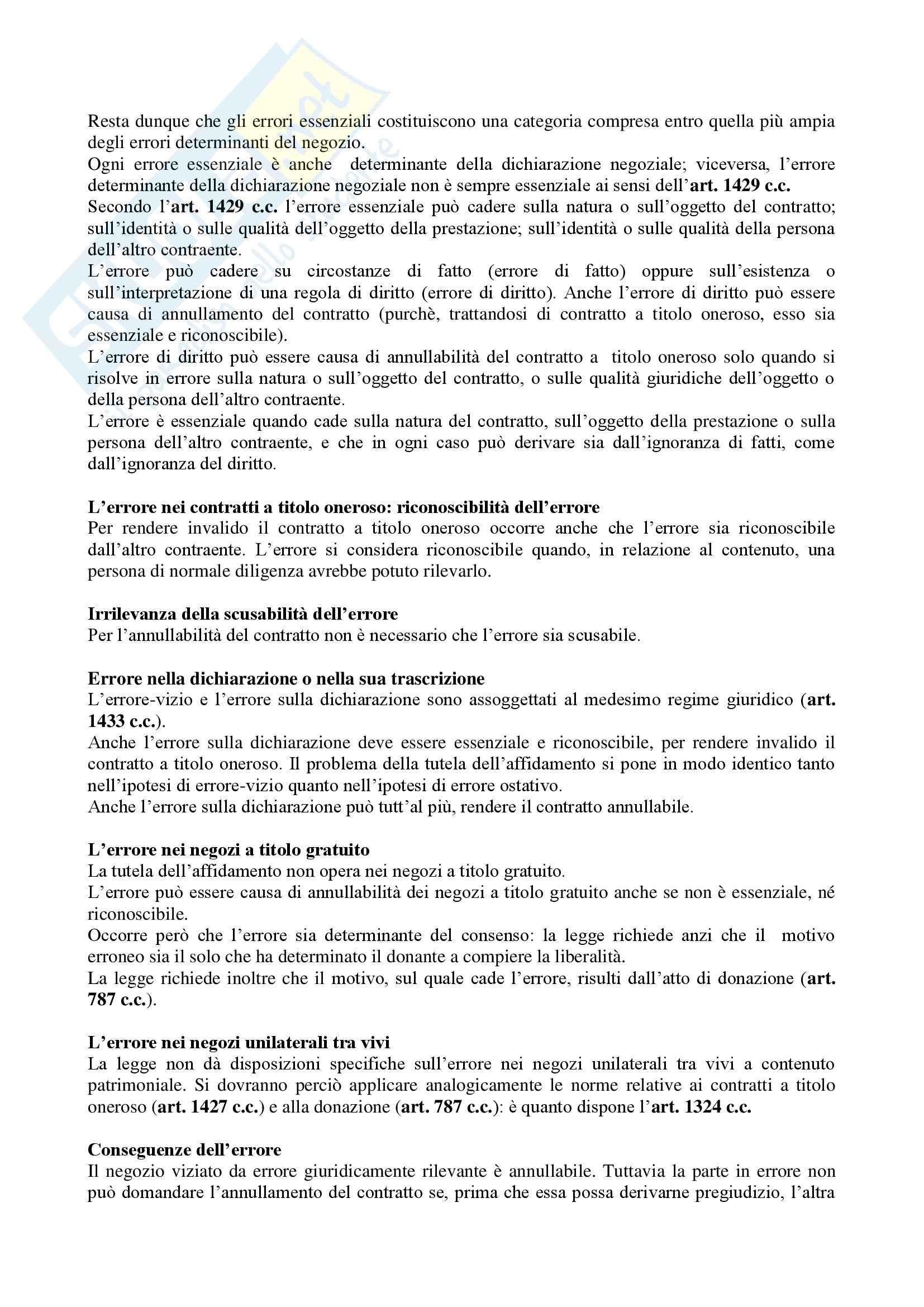Riassunto esame Diritto Privato, prof. Masi, libro consigliato Manuale di Diritto Privato, Alpa Pag. 126
