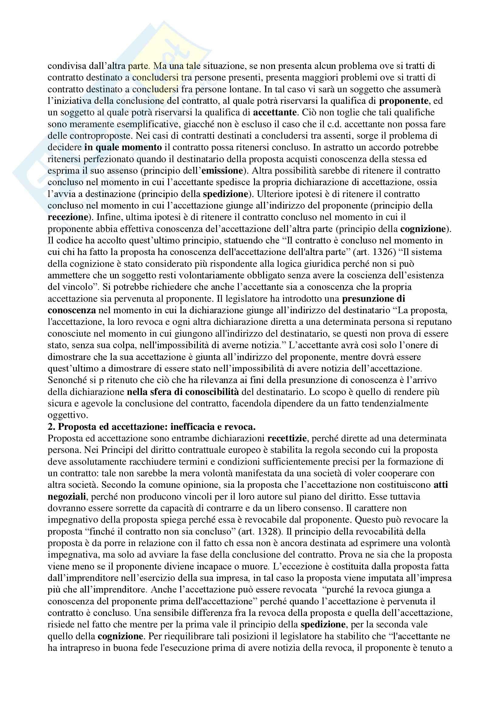 Riassunto esame Diritto Privato, prof. Masi, libro consigliato Manuale di Diritto Privato, Alpa Pag. 96