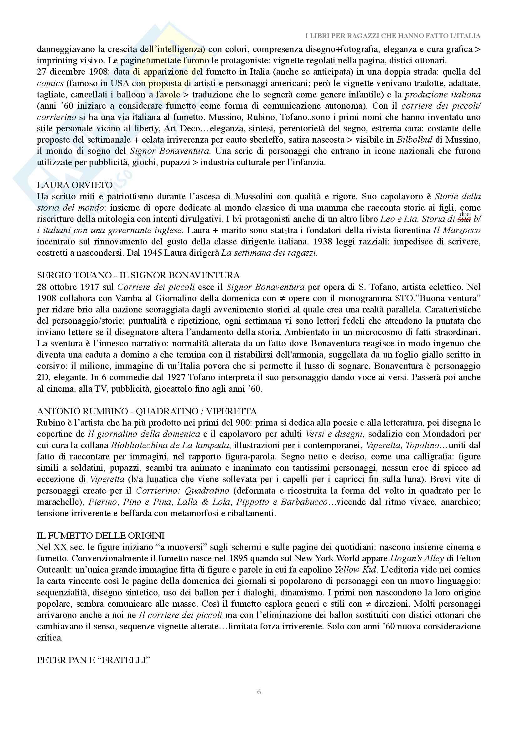 Riassunto esame Letteratura per l'infanzia, docente Negri, libro consigliato I libri per i ragazzi che hanno fatto l'Italia, Hamelin Pag. 6