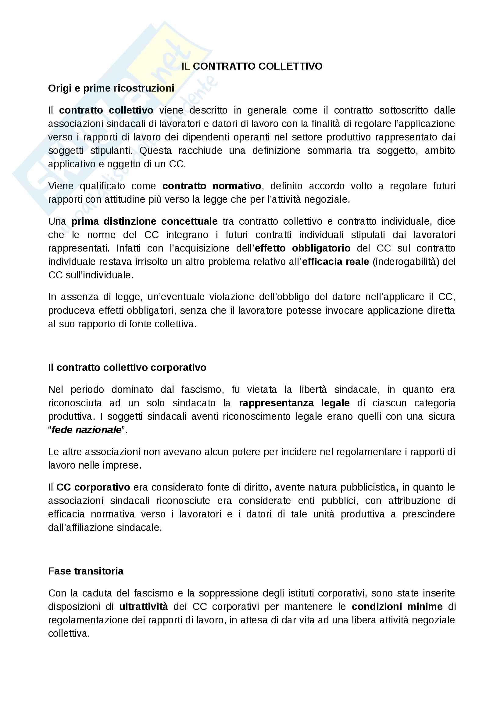 appunto L. Corazza Diritto del lavoro