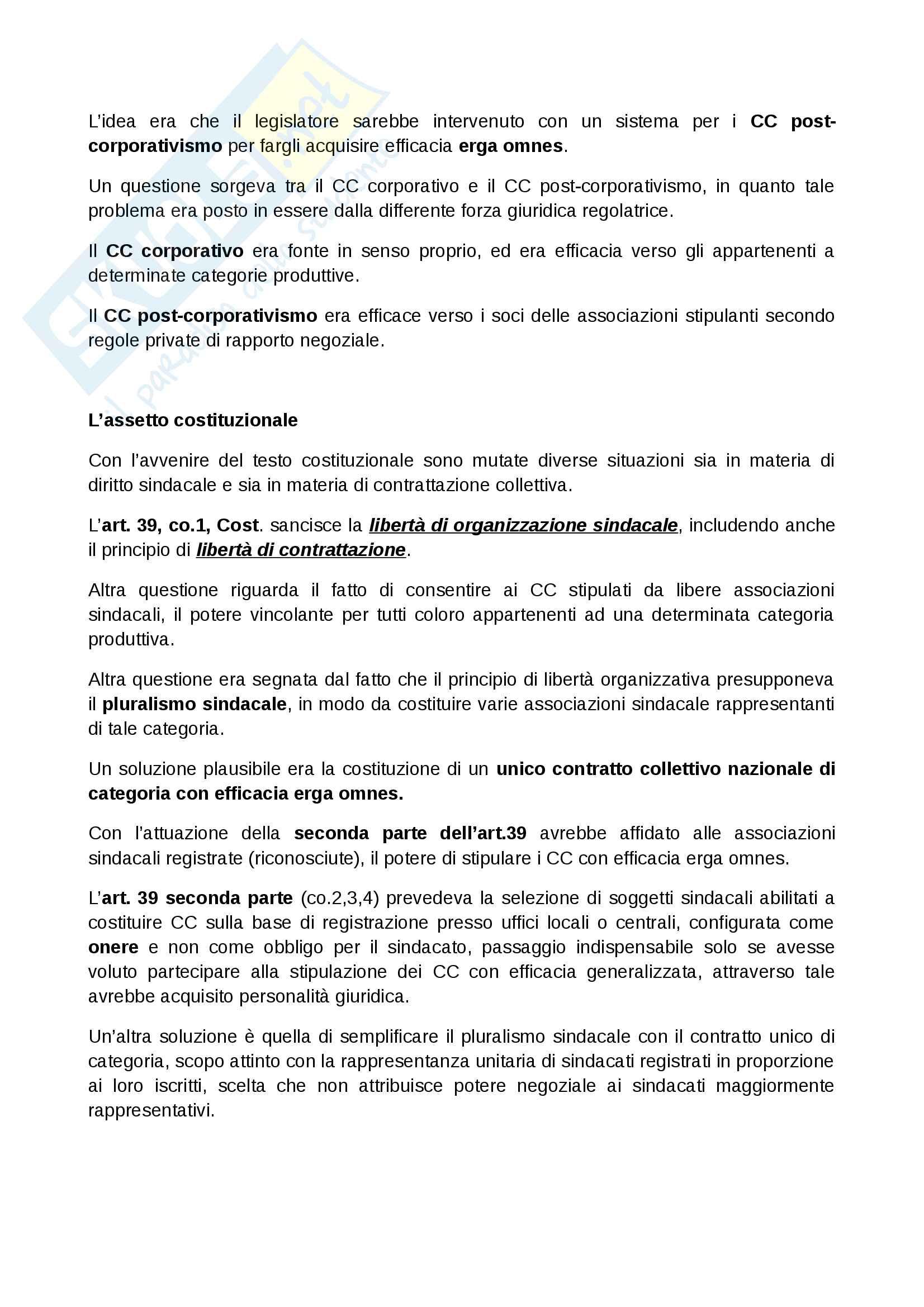 Il contratto collettivo Pag. 2