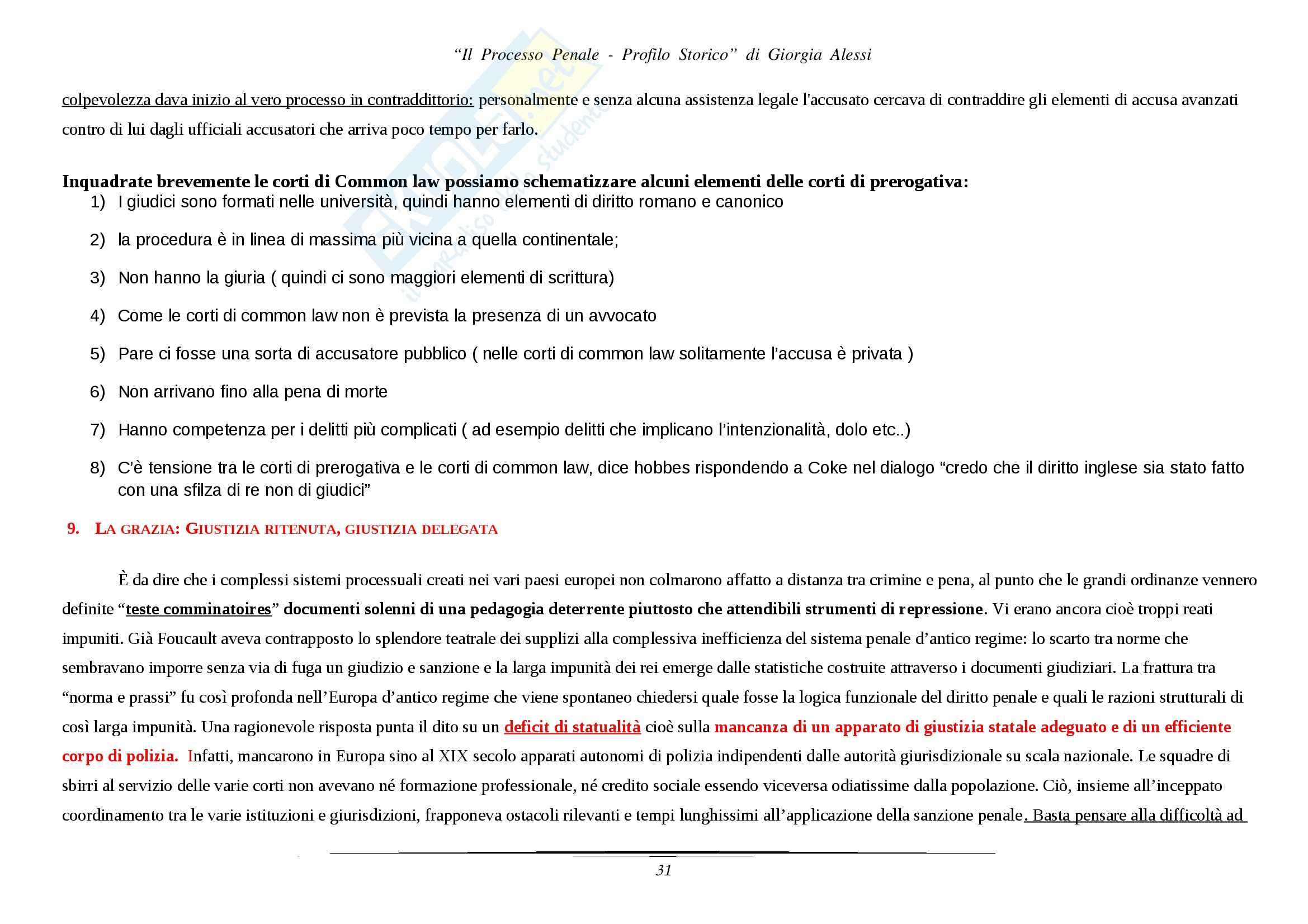 Riassunto esame Storia giustizia, prof. Alessi, libro consigliato Il Processo Penale Pag. 31