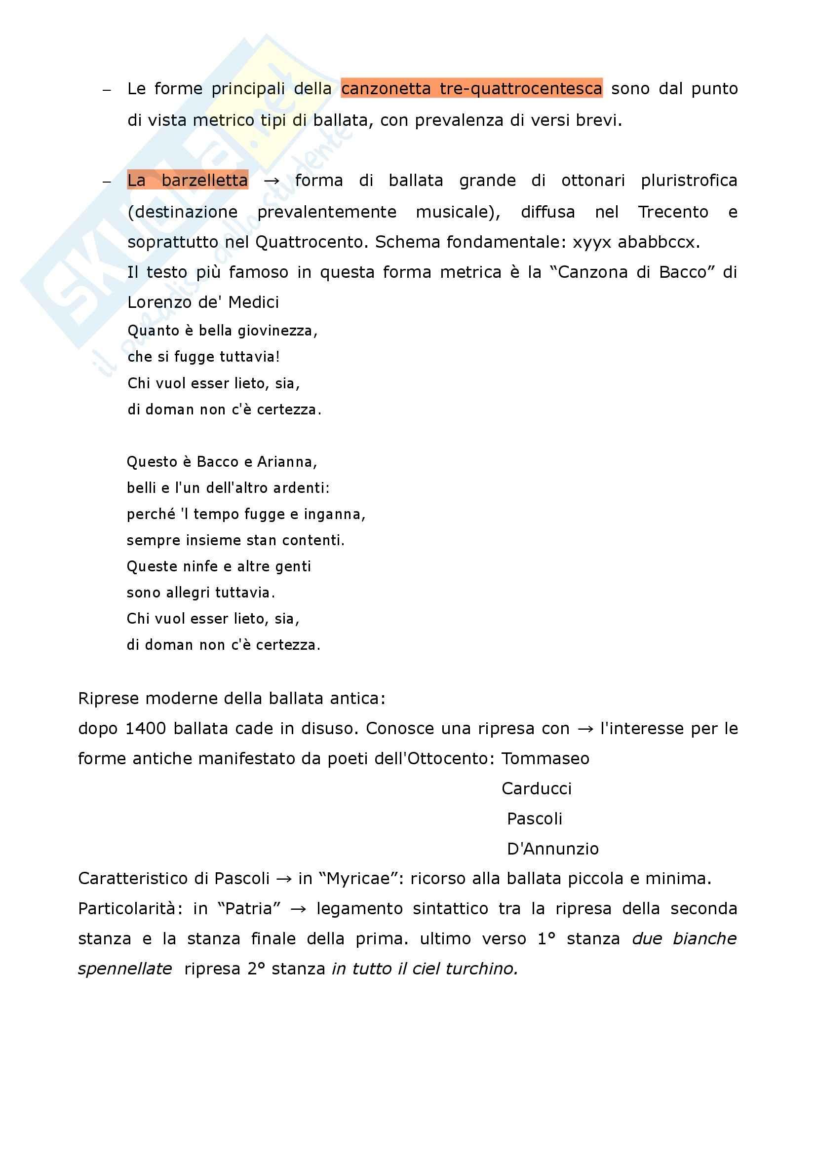 Riassunto esame Filologia italiana, La Metrica italiana, Beltrami, prof. Pancheri Pag. 21