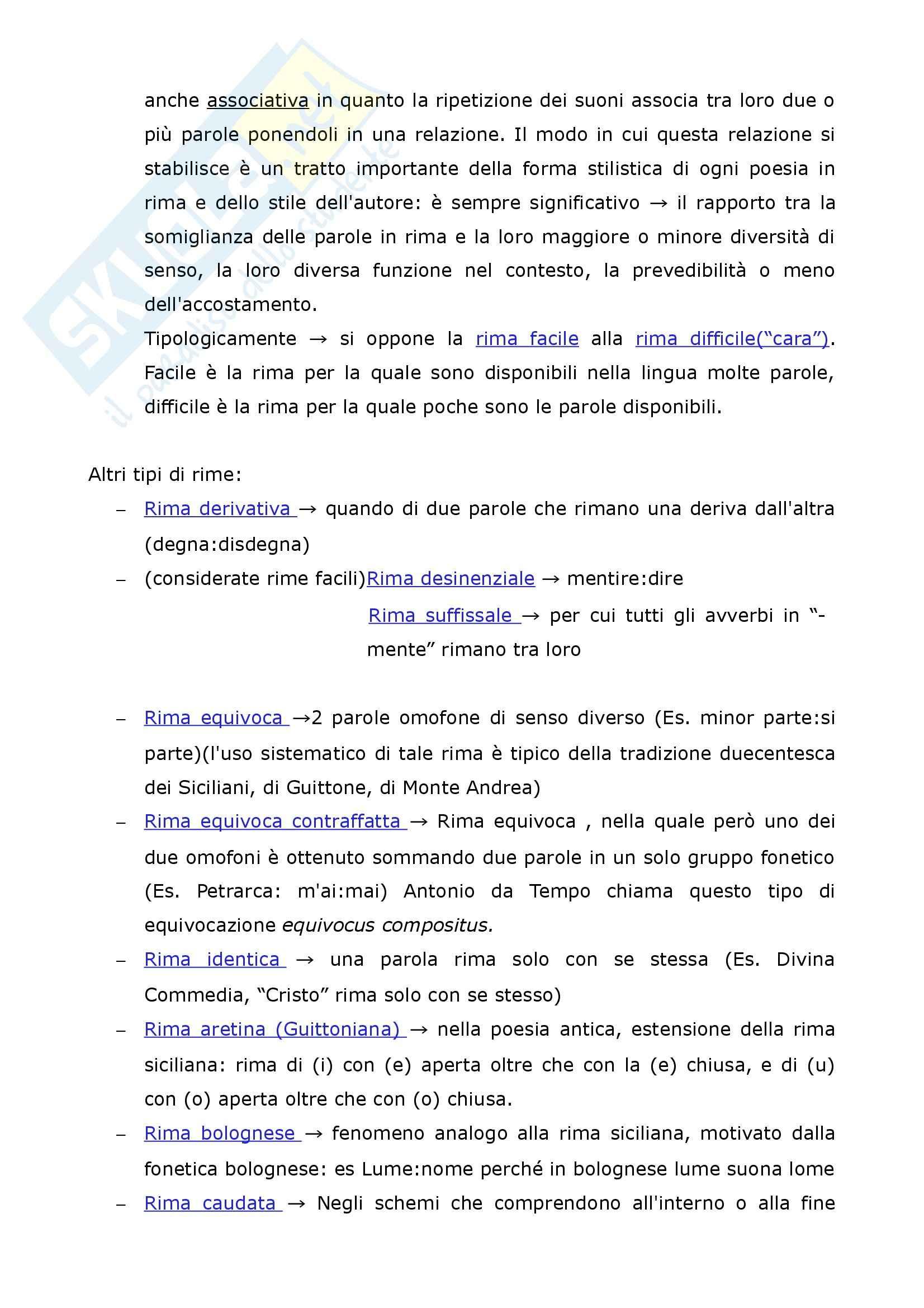 Riassunto esame Filologia italiana, La Metrica italiana, Beltrami, prof. Pancheri Pag. 6