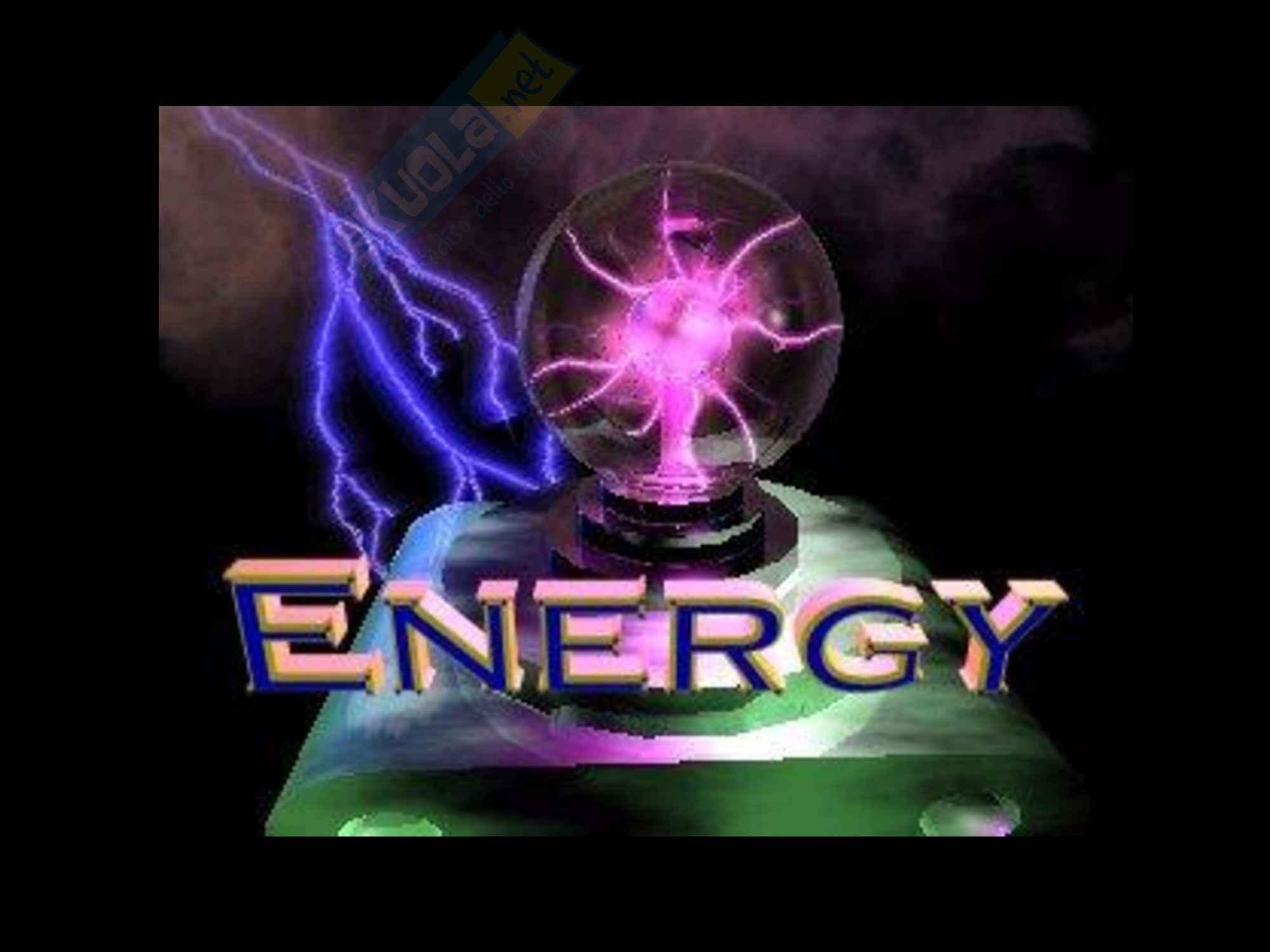 Fisica - le forme di energia