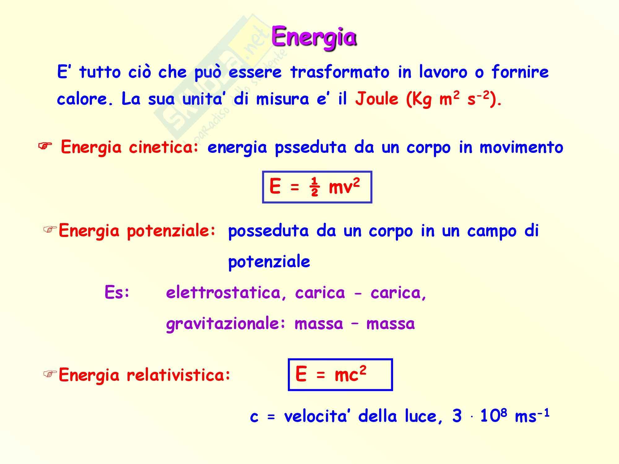 Fisica - le forme di energia Pag. 2